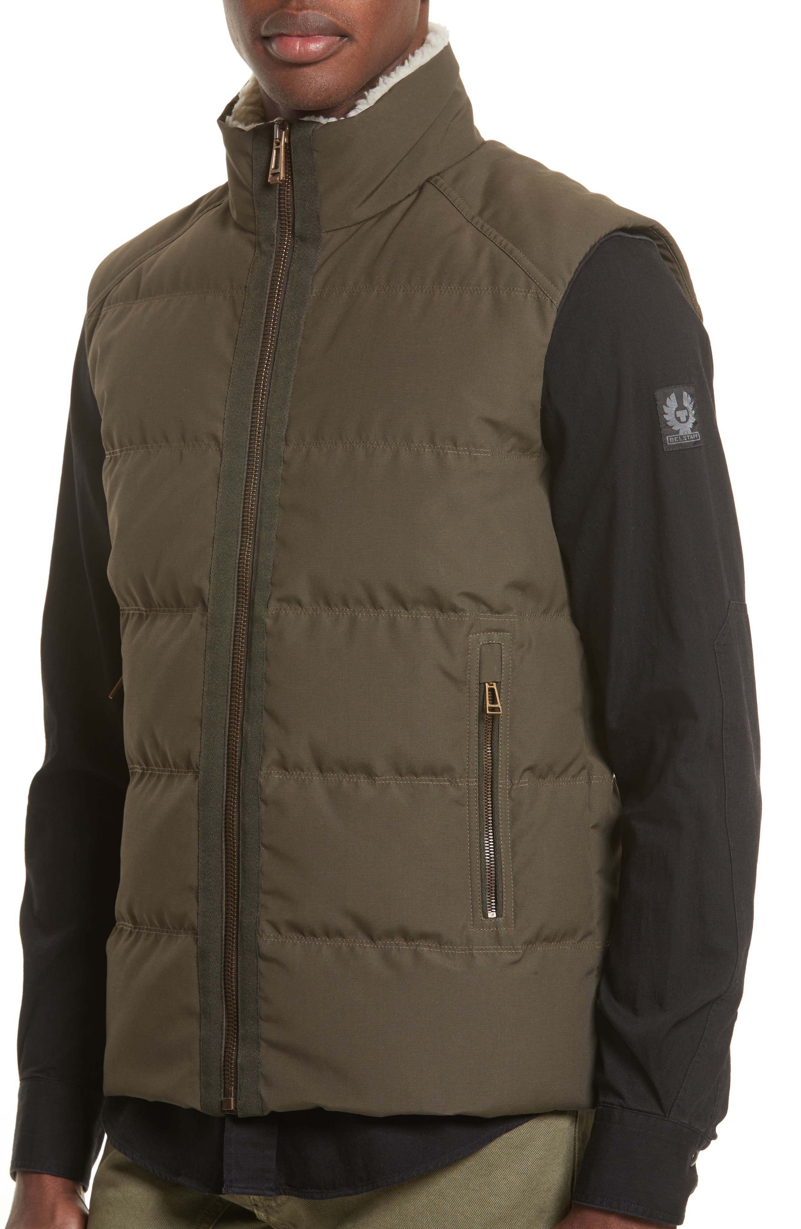 Fyfield Quilted Vest,                             Alternate thumbnail 4, color,                             Military Green