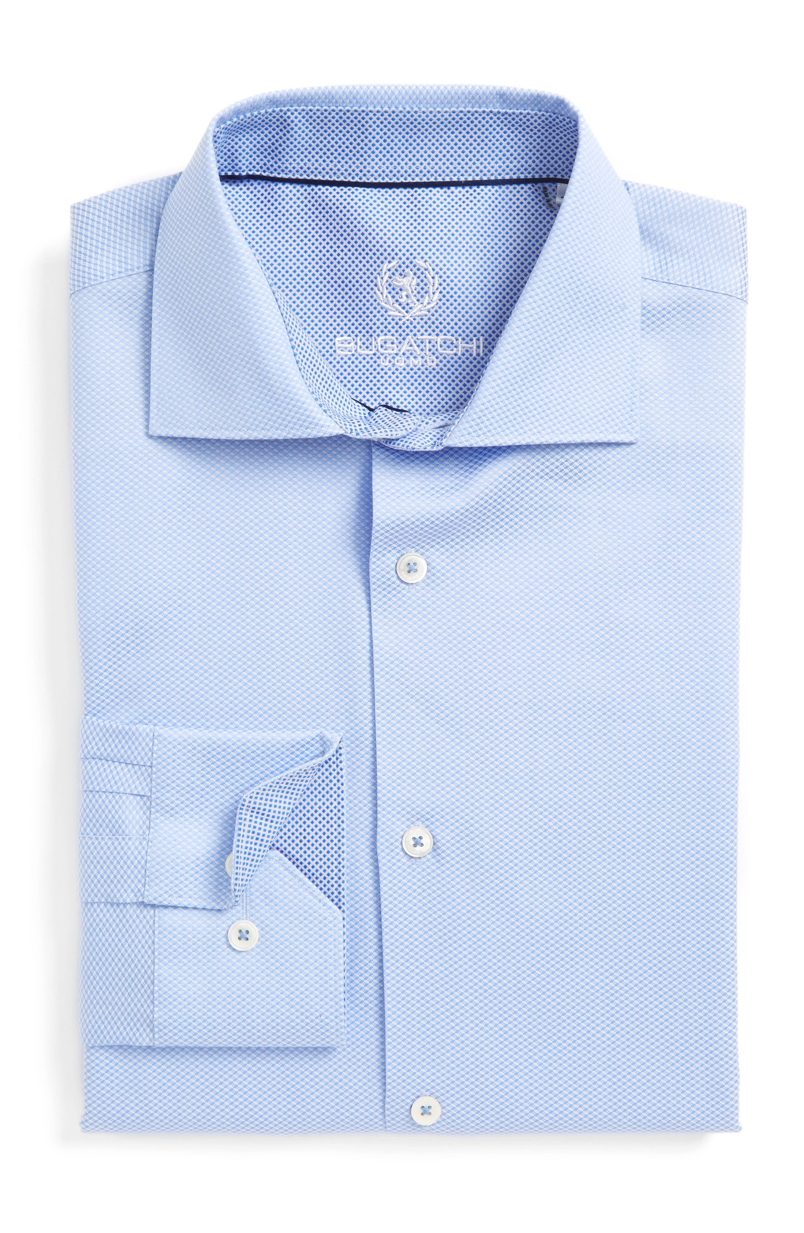 Alternate Image 1 Selected - Bugatchi Trim Fit Solid Dress Shirt