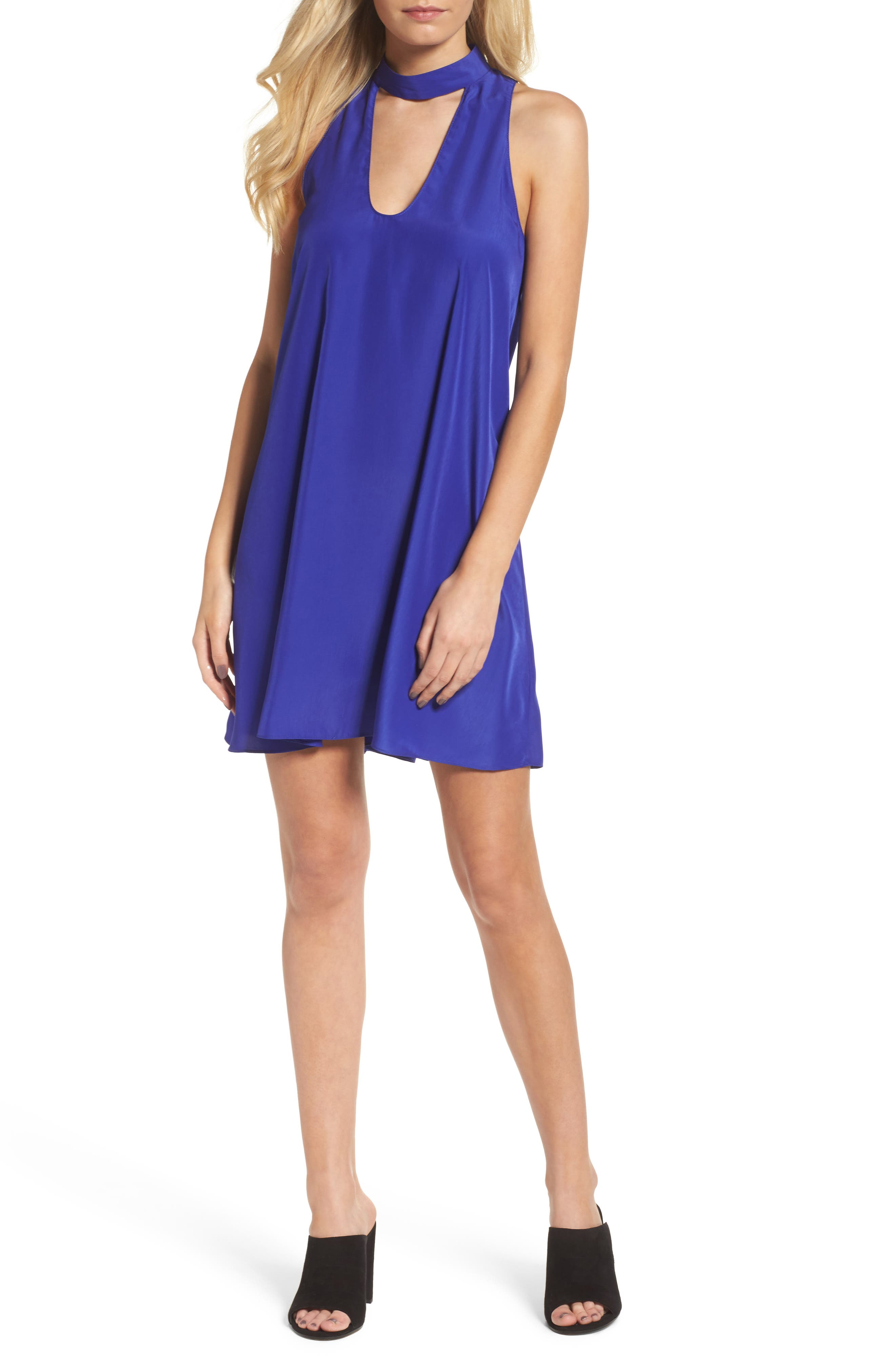 A by Amanda Choker Neck Shift Dress