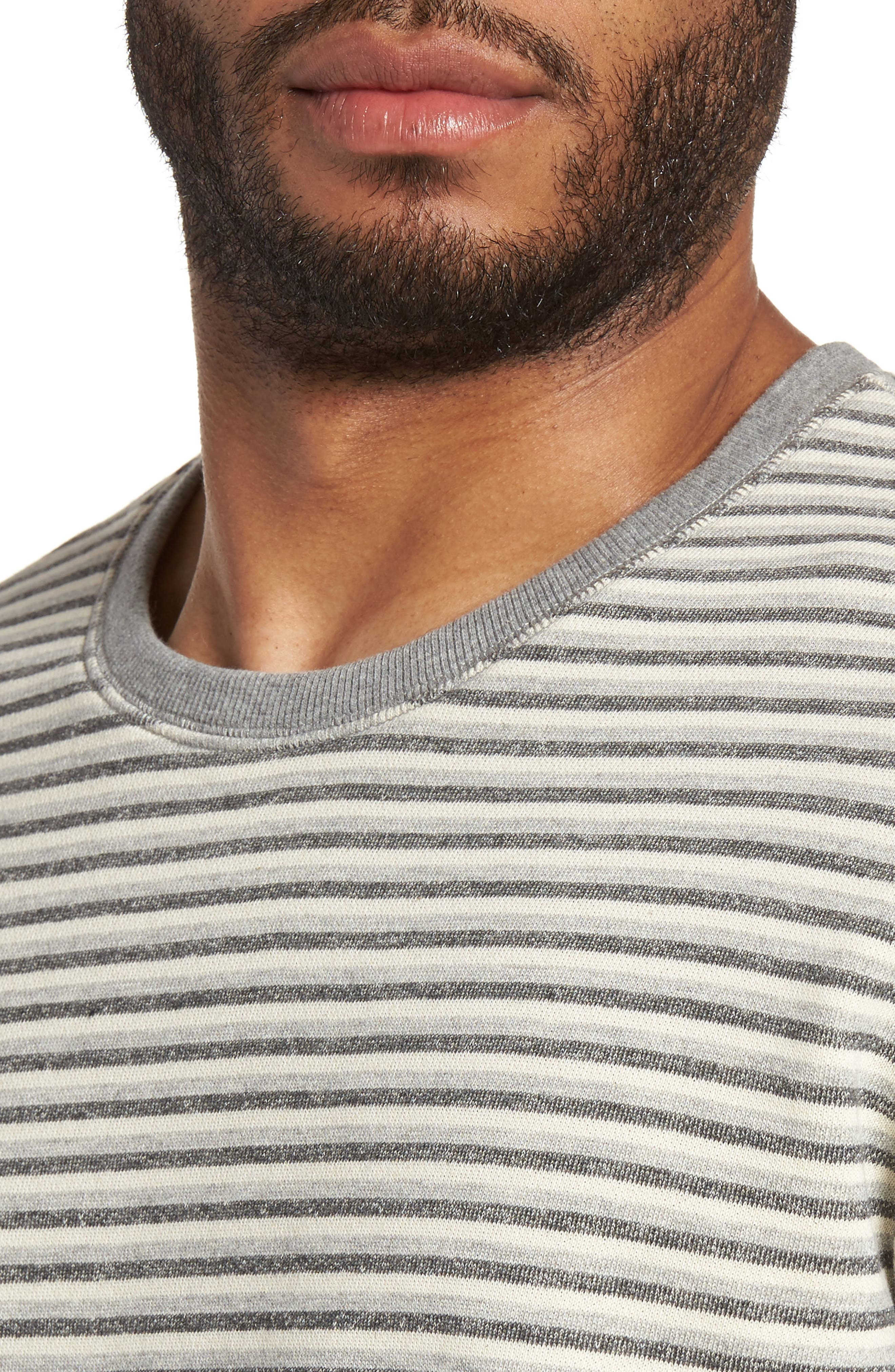 Alternate Image 4  - Slate & Stone Stripe Crewneck Sweatshirt