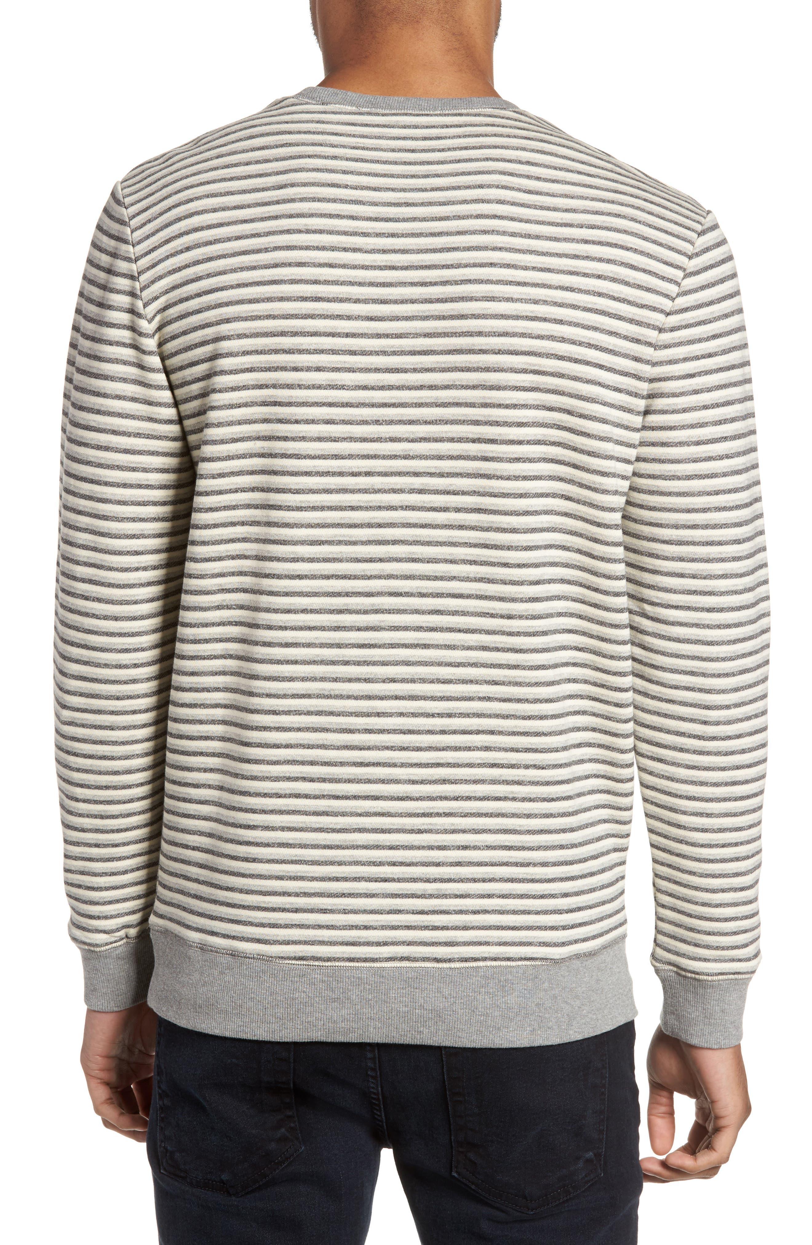 Alternate Image 2  - Slate & Stone Stripe Crewneck Sweatshirt