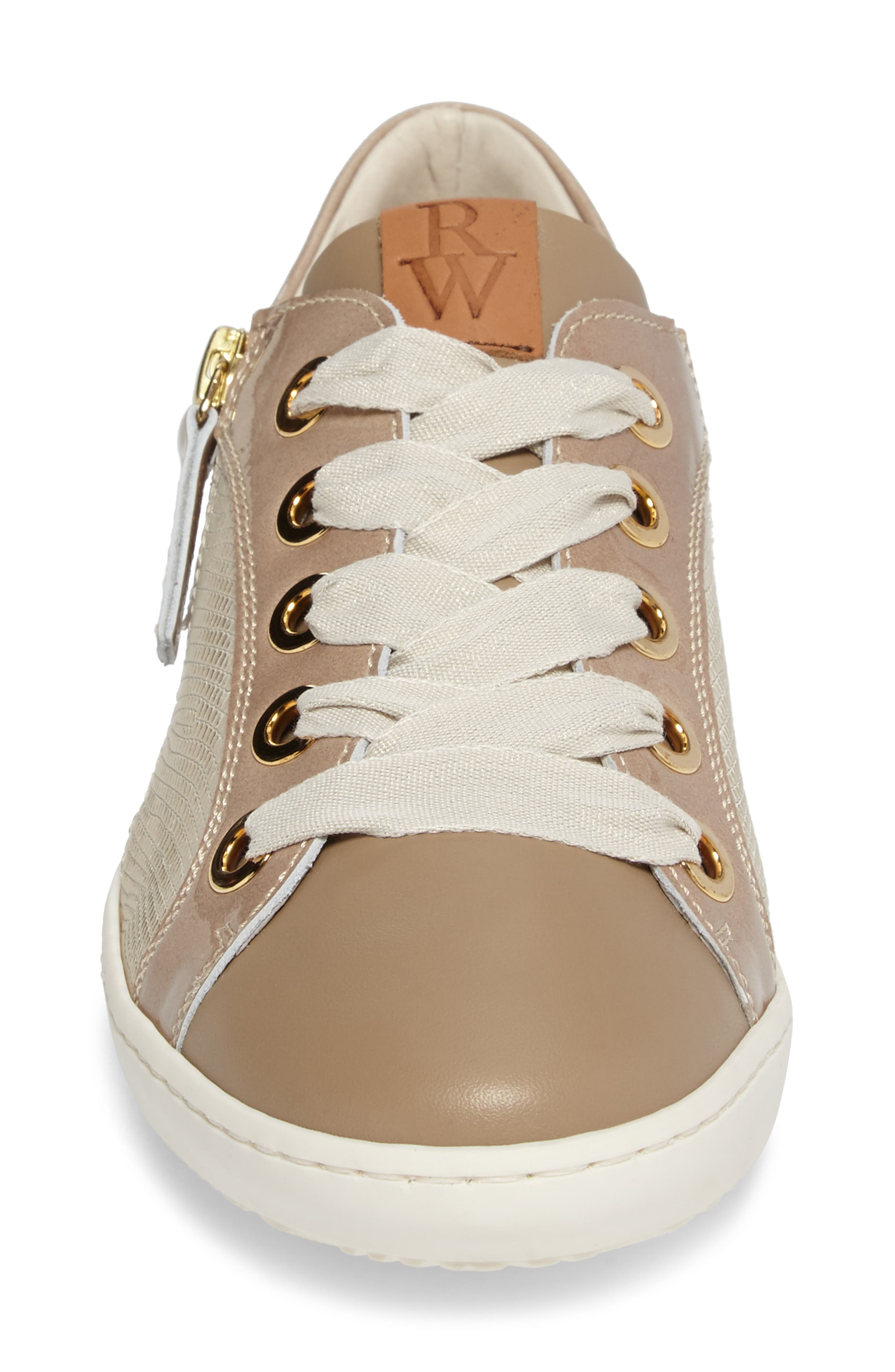 May Sneaker,                             Alternate thumbnail 4, color,                             Nude/ Platino Leather