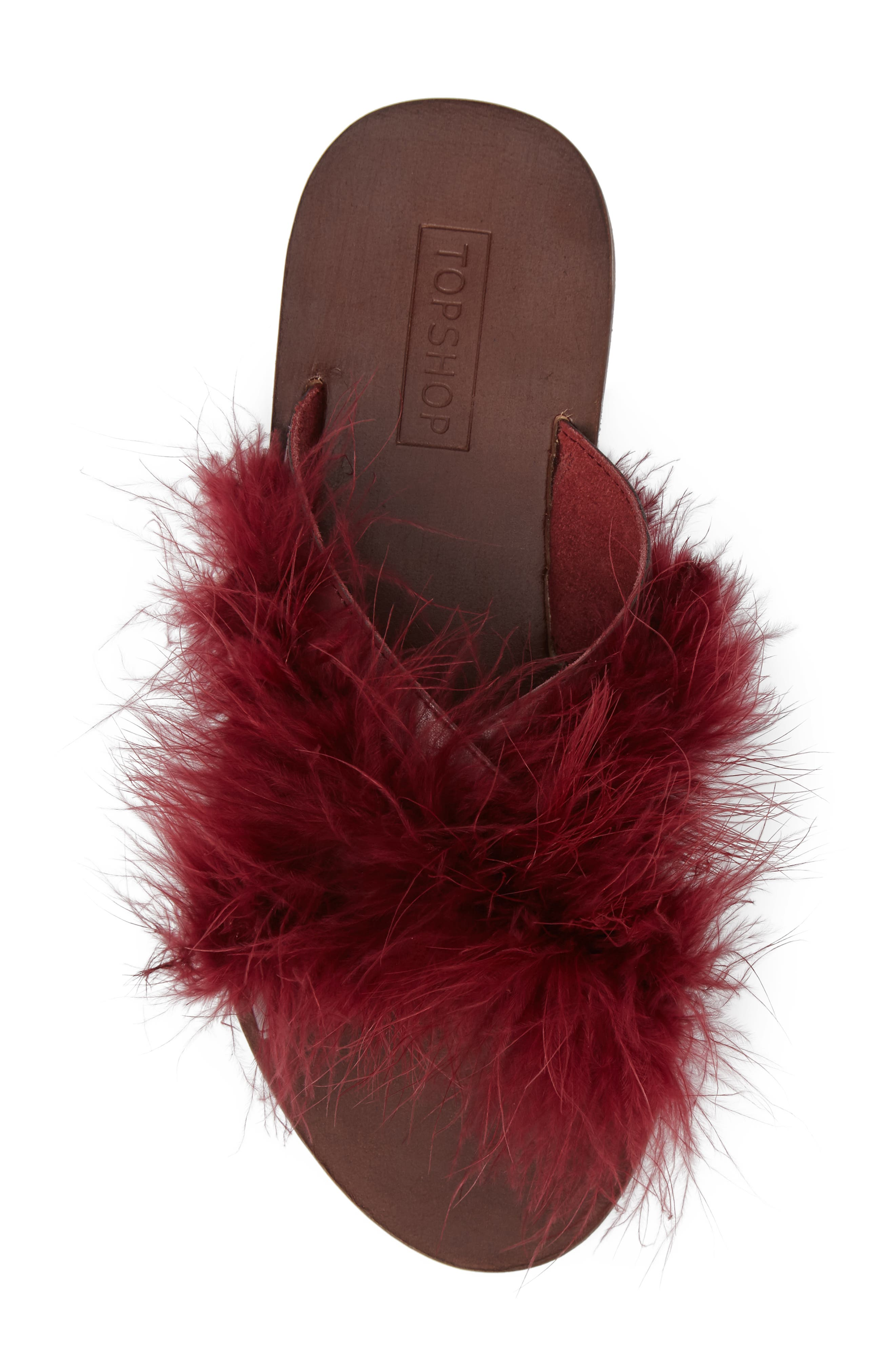 Alternate Image 5  - Topshop Fenella Feathered Sandal (Women)