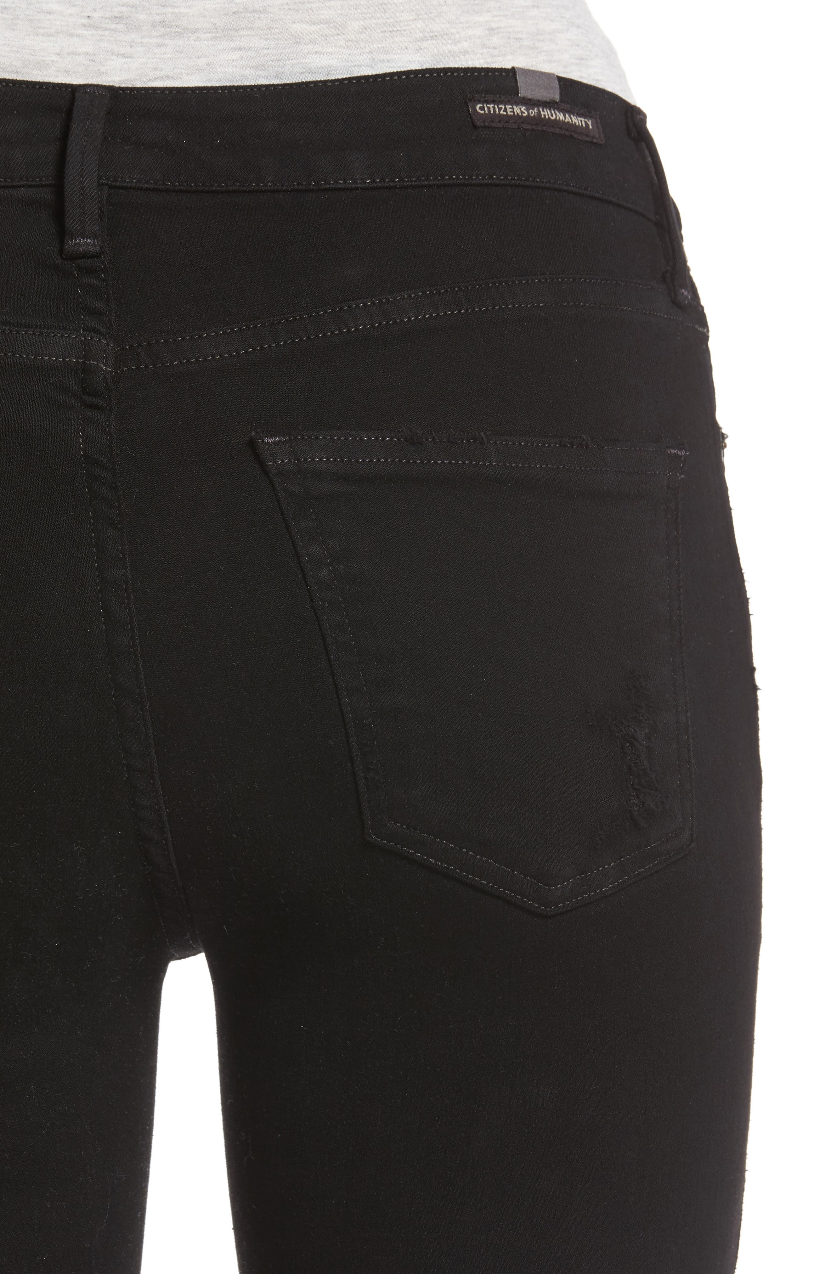Alternate Image 4  - Citizens of Humanity Rocket High Waist Skinny Jeans (Black Echoes)