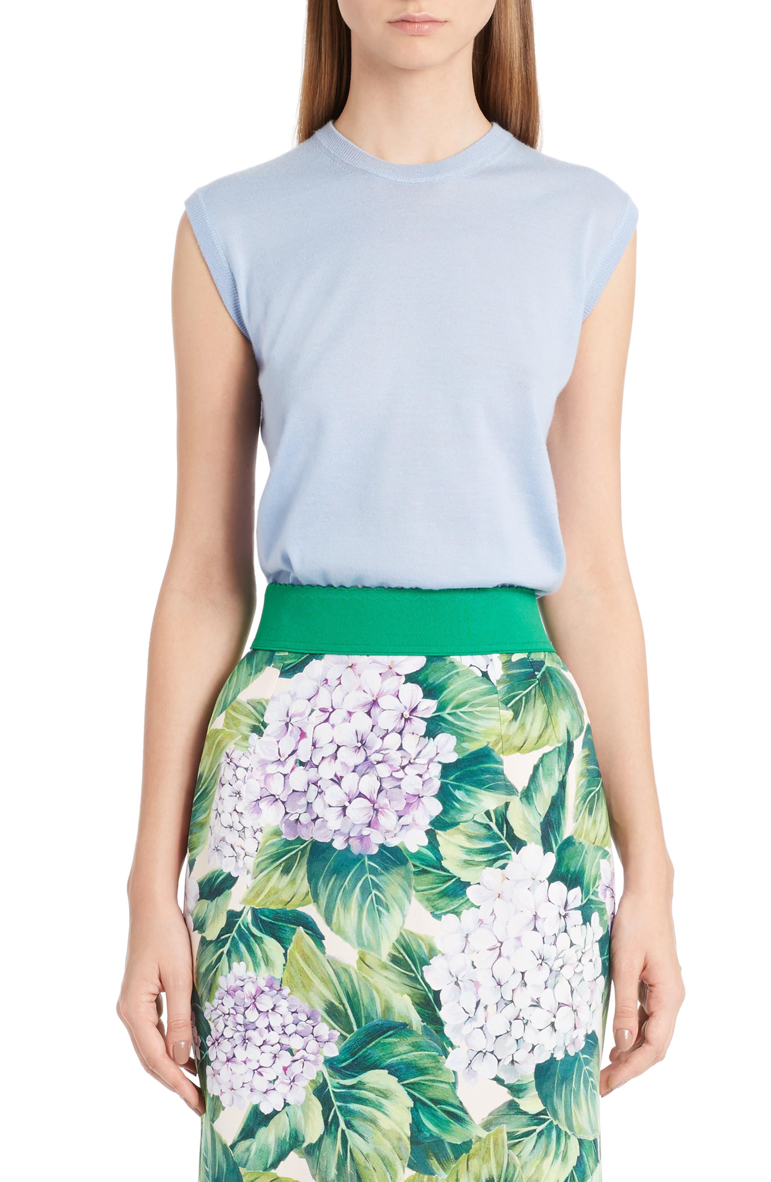 Main Image - Dolce&Gabbana Cashmere & Silk Shell