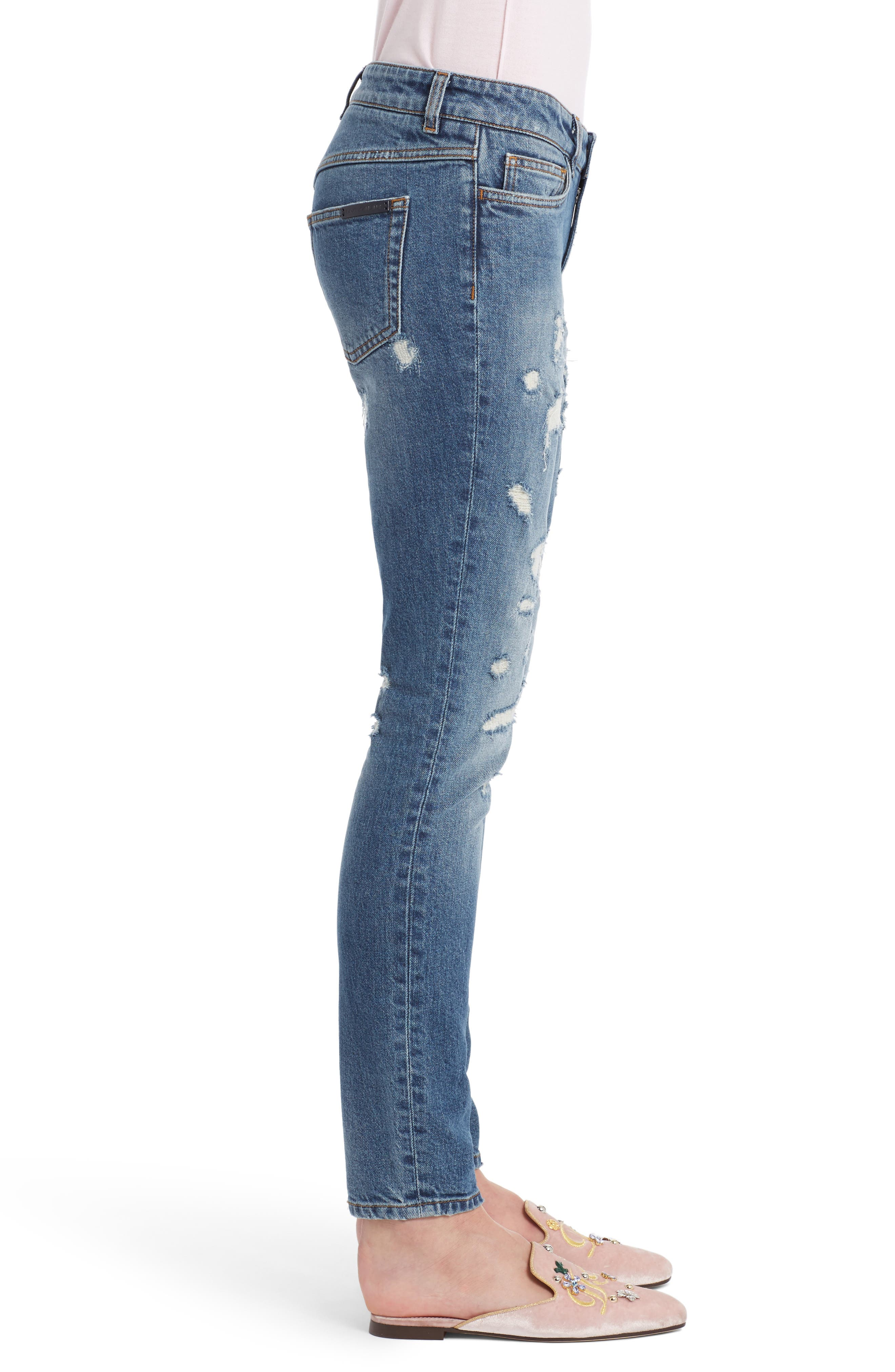Alternate Image 4  - Dolce&Gabbana Ripped Skinny Jeans