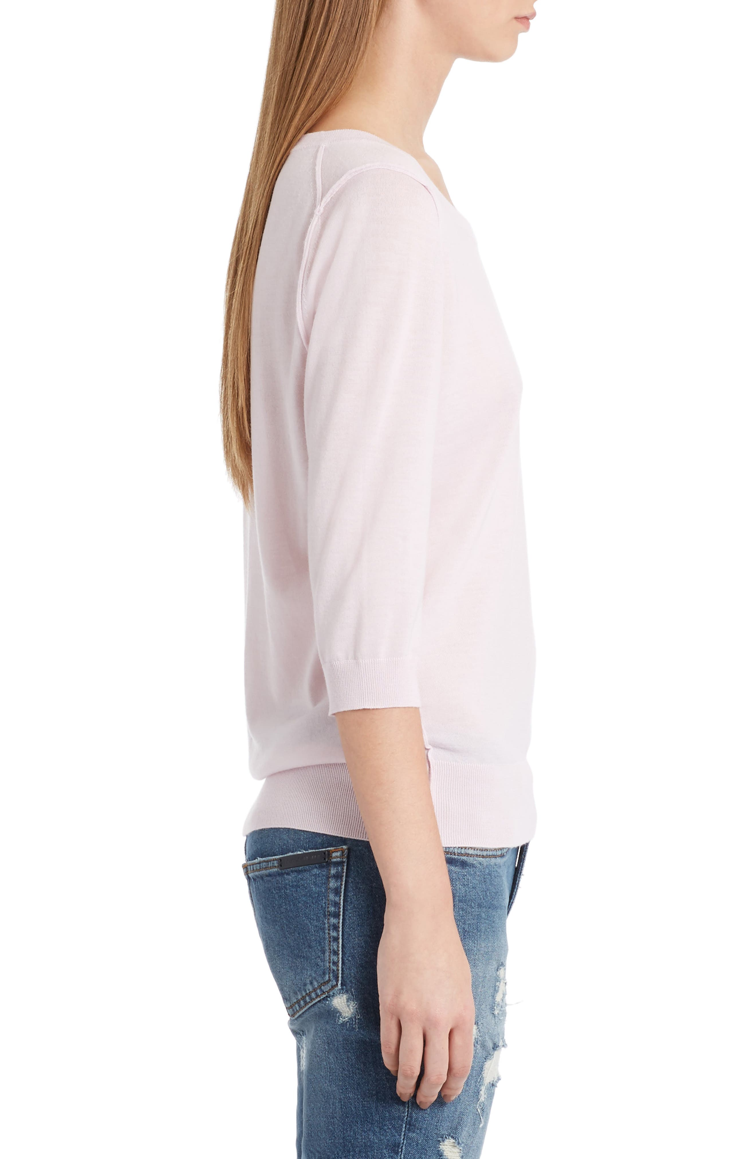 Cashmere Sweater,                             Alternate thumbnail 4, color,                             Powder Pink