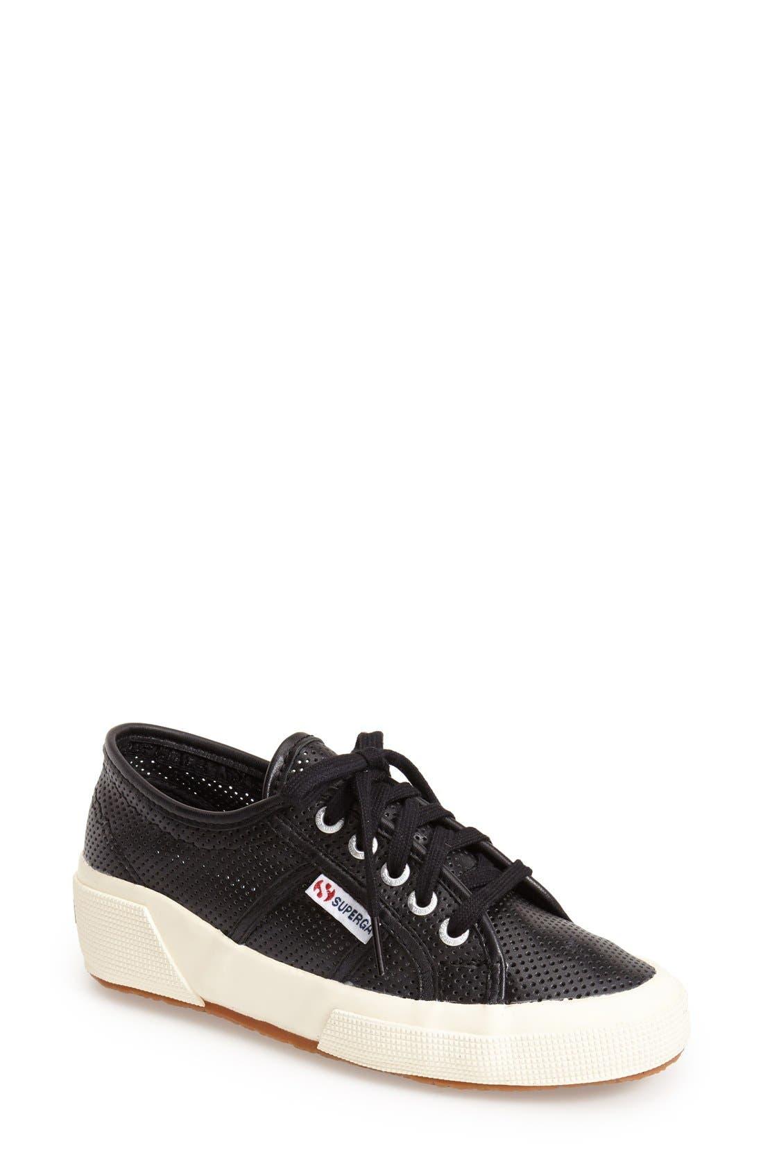 Main Image - Superga 'Perforated Cotu' Leather Sneaker (Women)