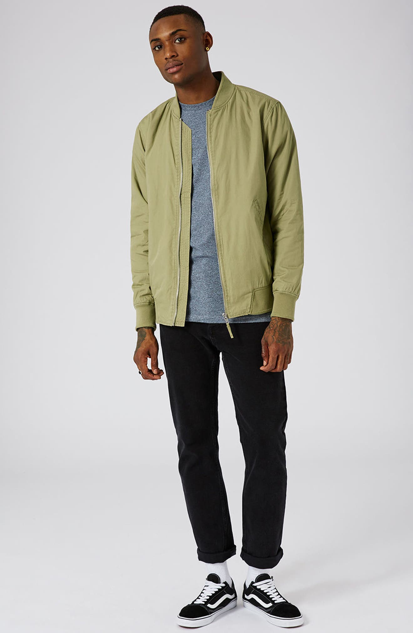 Classic Bomber Jacket,                             Alternate thumbnail 2, color,                             Olive
