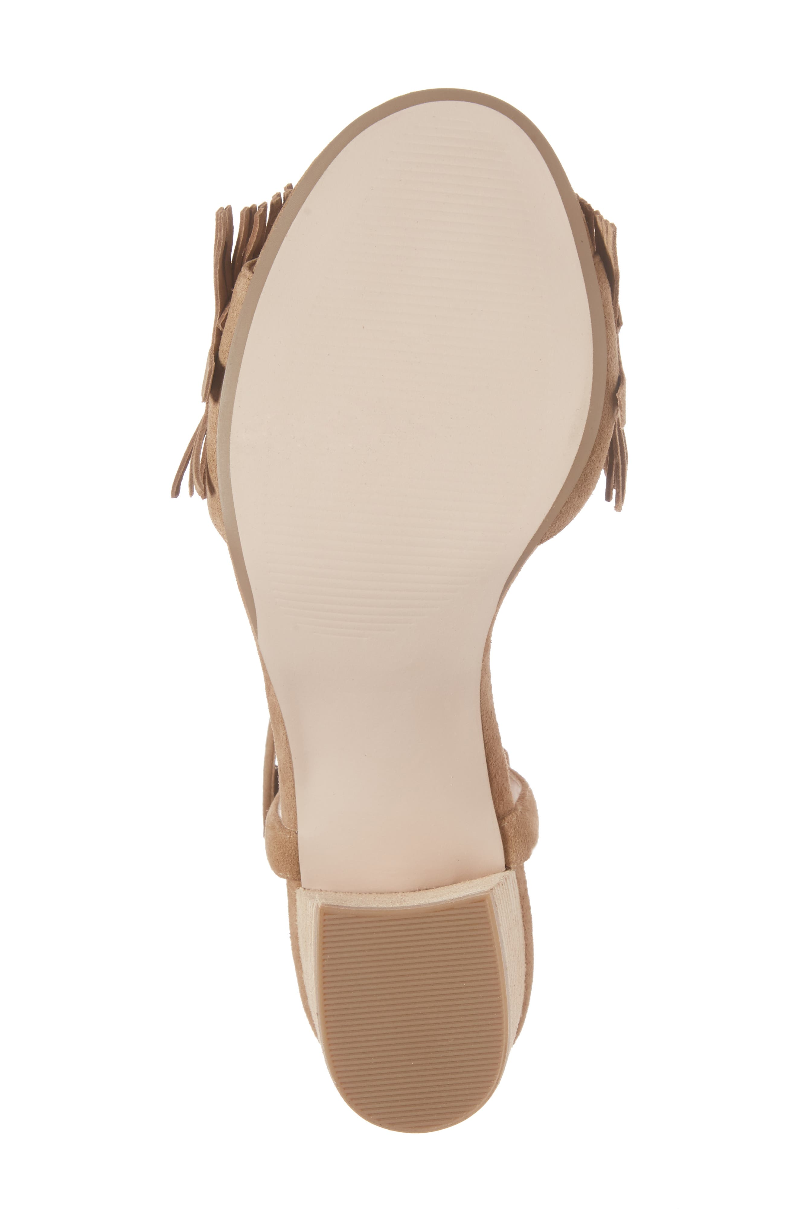 Sepia Fringe Sandal,                             Alternate thumbnail 6, color,                             Coffee Suede