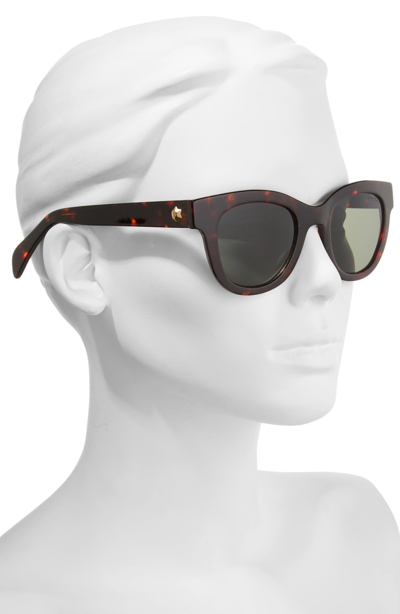 Alternate Image 2  - Draper James 50mm Gradient Lens Cat Eye Sunglasses