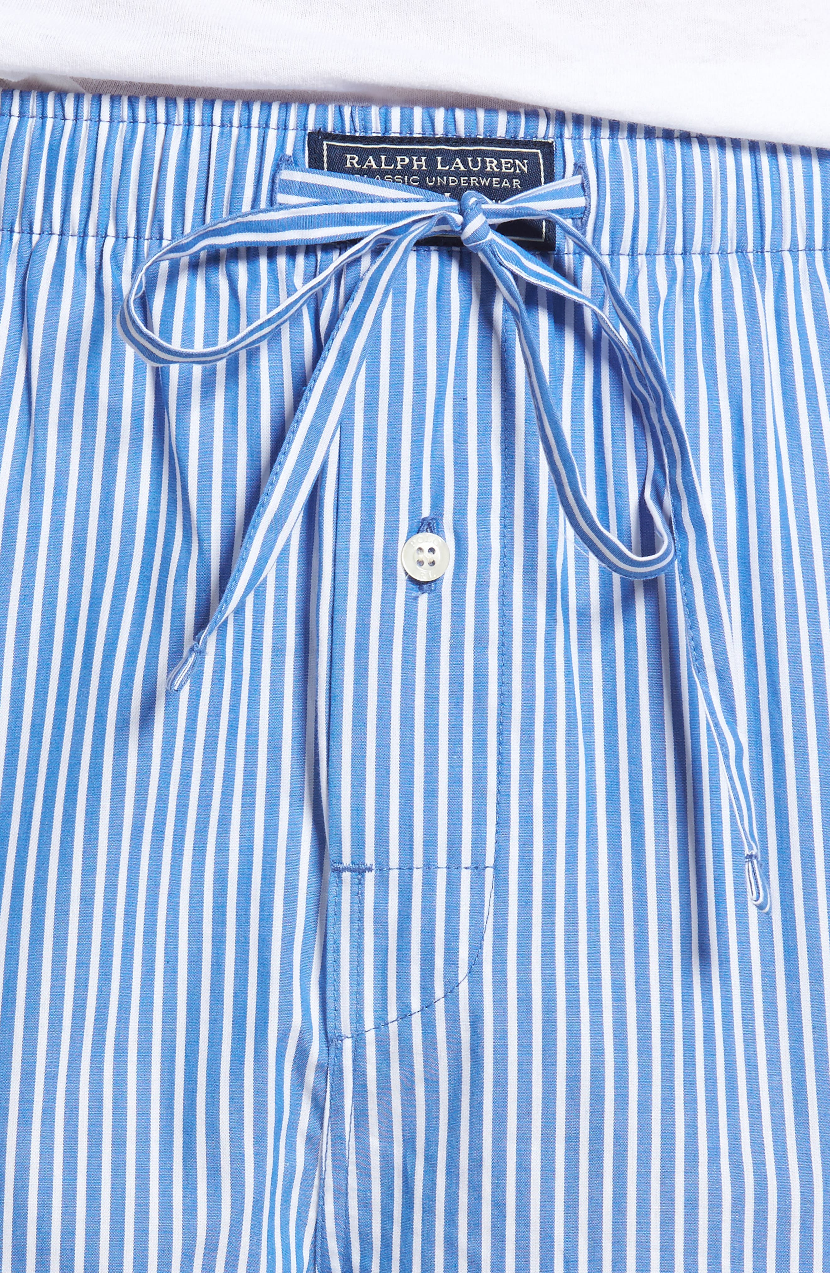Cotton Lounge Pants,                             Alternate thumbnail 4, color,                             King Blue Stripe