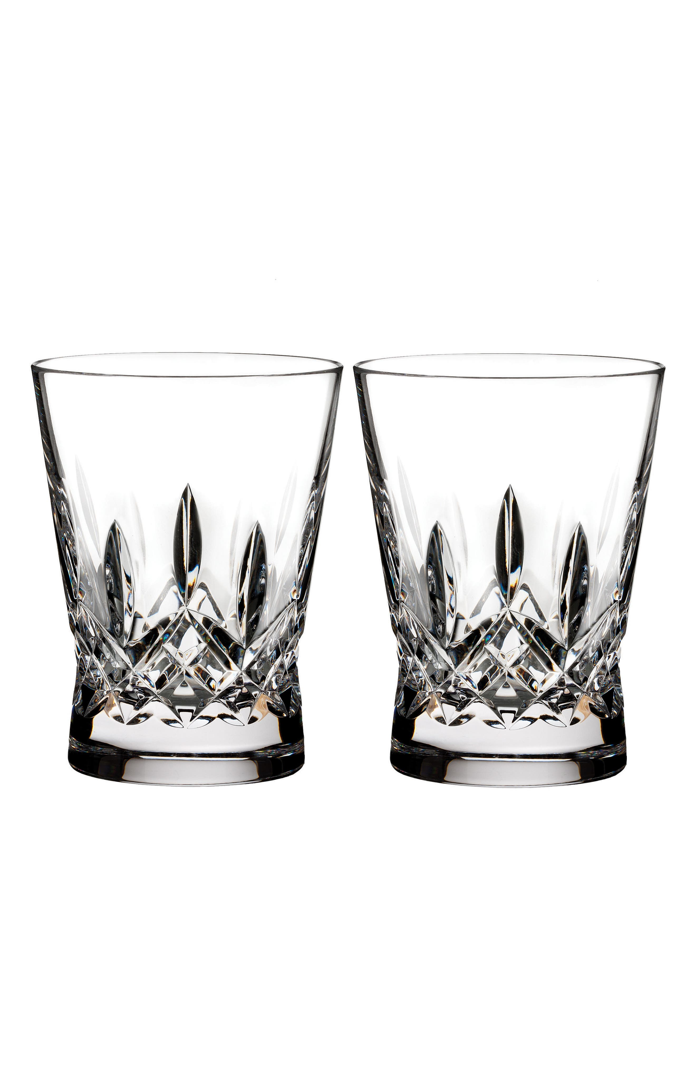 Lismore Pops Set of 2 Lead Crystal Old Fashioned Glasses,                         Main,                         color, Crystal