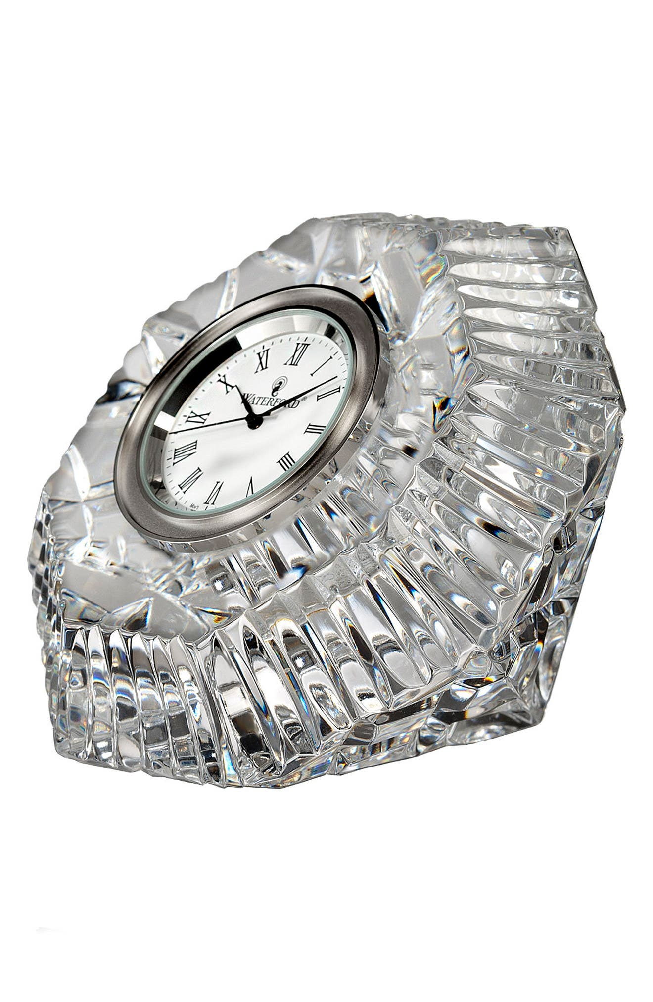 Lismore Diamond Clock,                         Main,                         color, Crystal