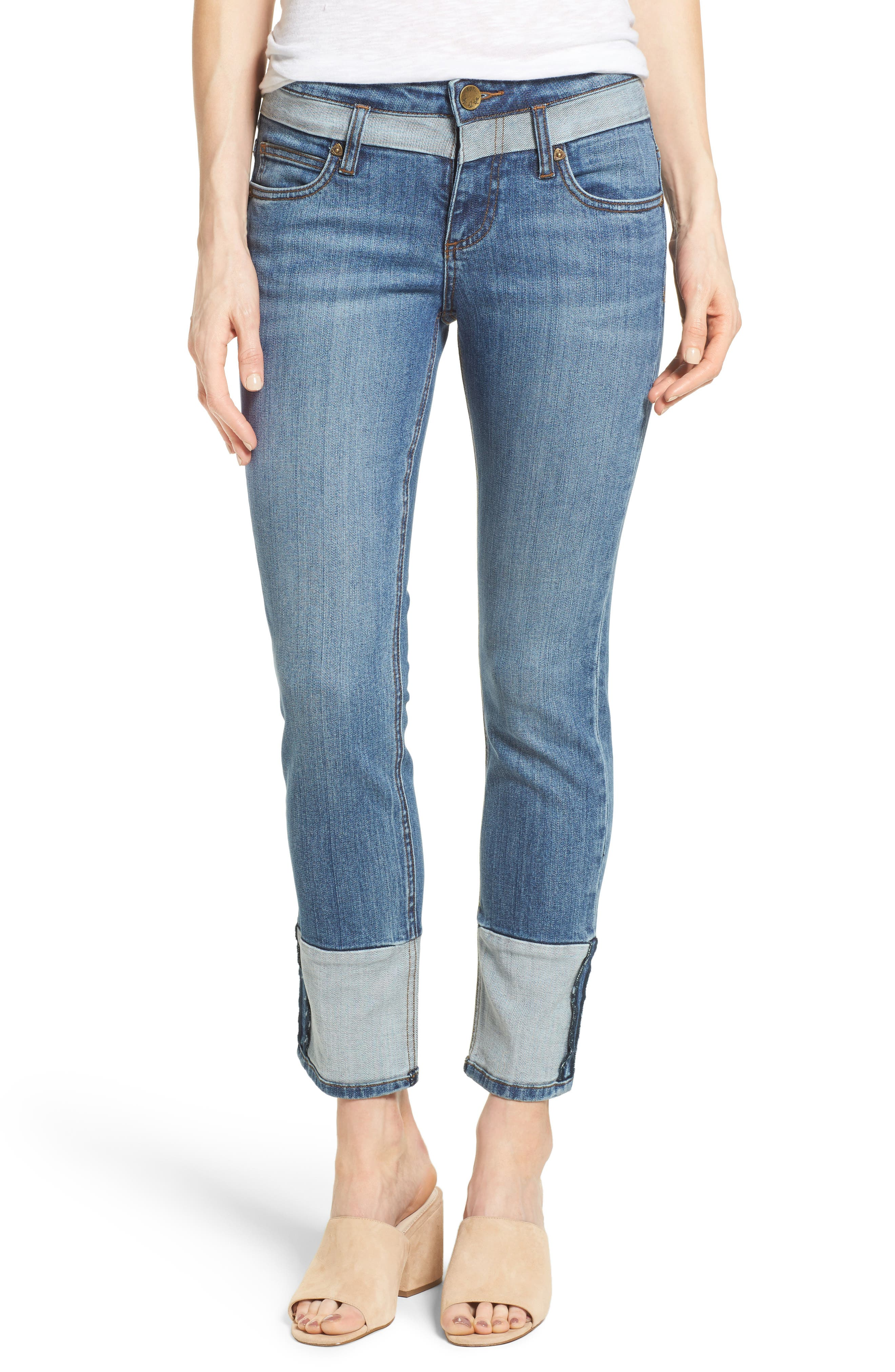KUT from the Kloth Straight Leg Ankle Jeans (Evocative)