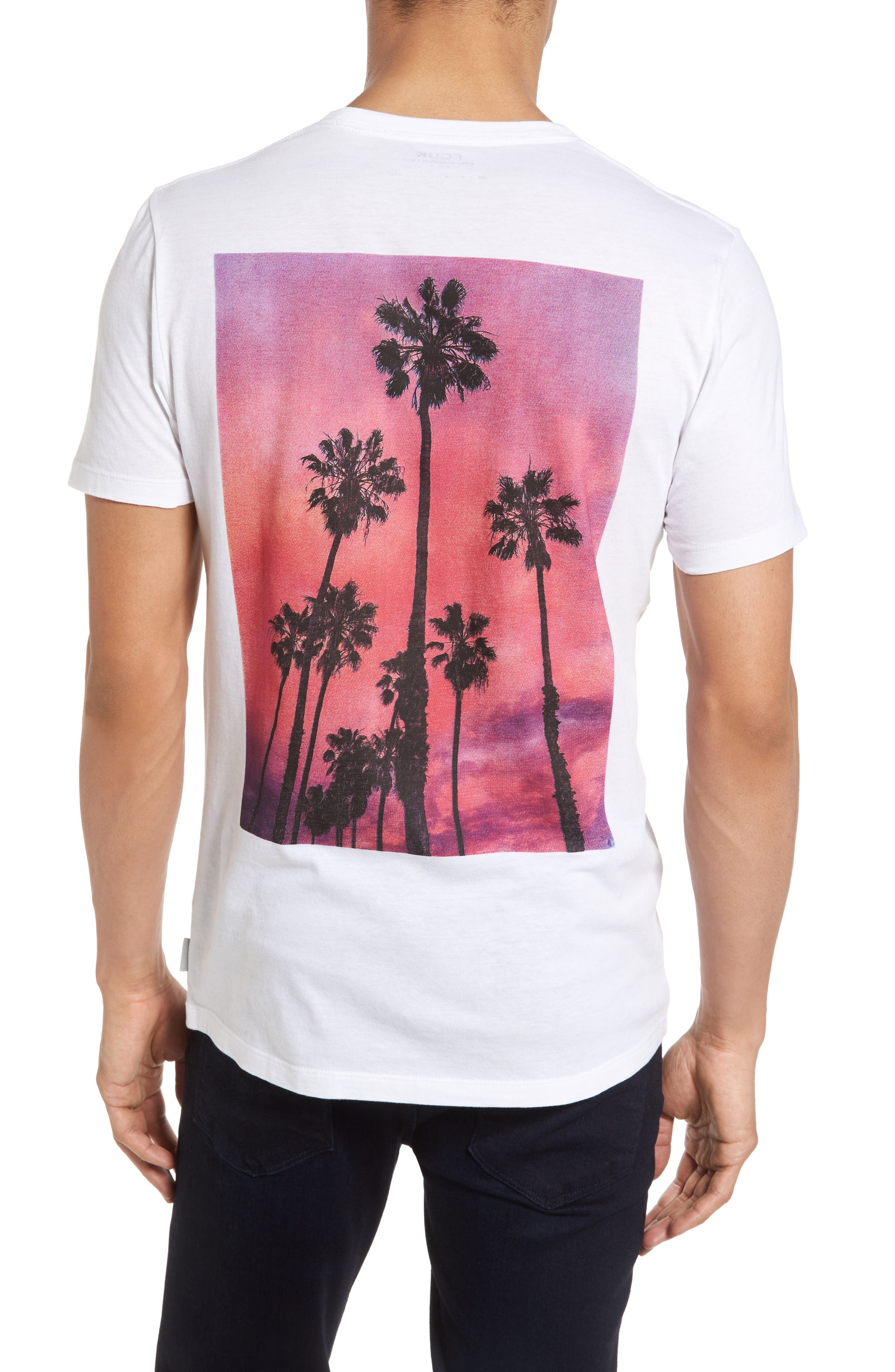 Alternate Image 2  - French Connection Sunset Palms Slim T-Shirt