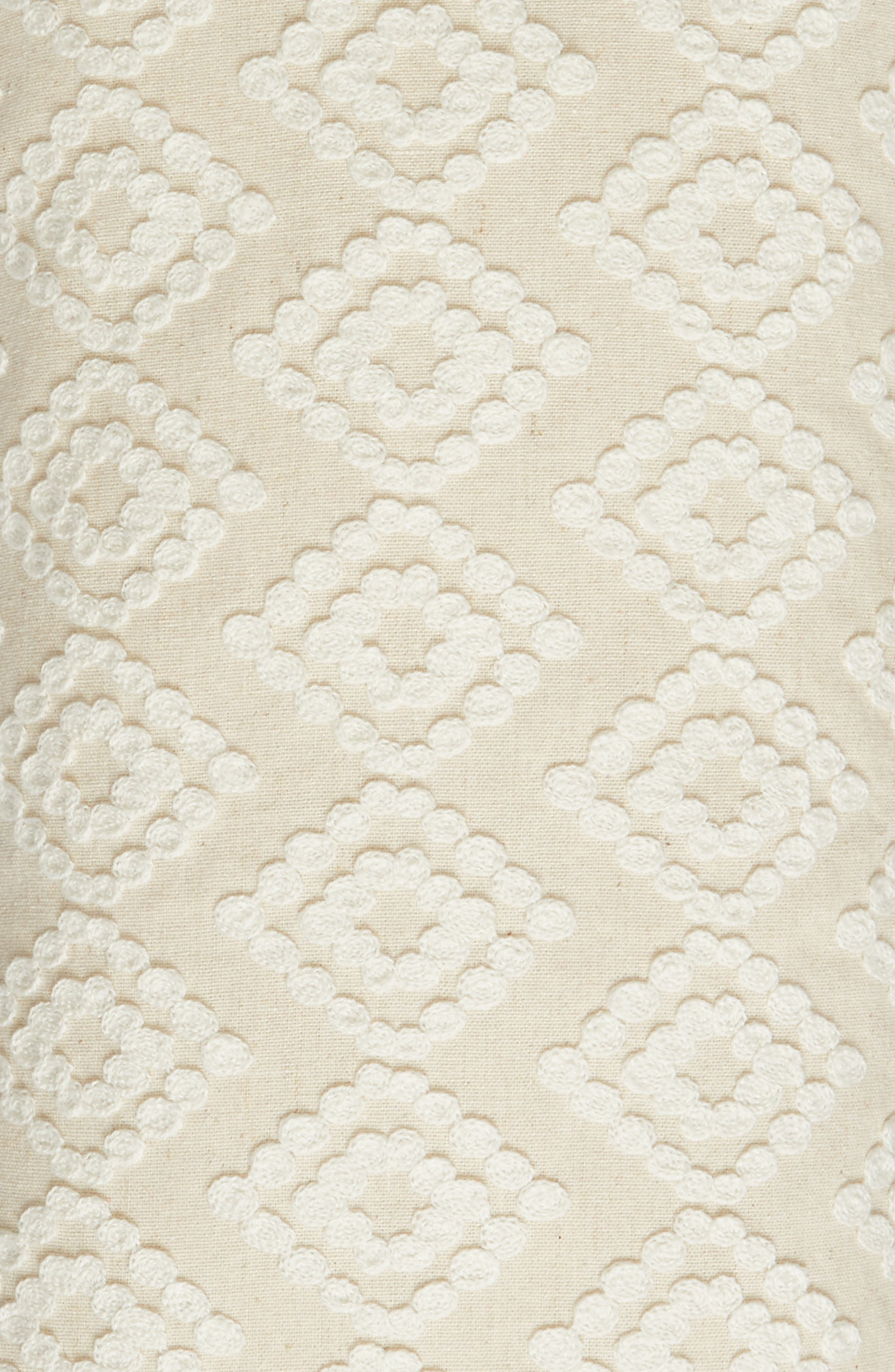 Addie Crewel Stitch Accent Pillow,                             Alternate thumbnail 2, color,                             Taupe