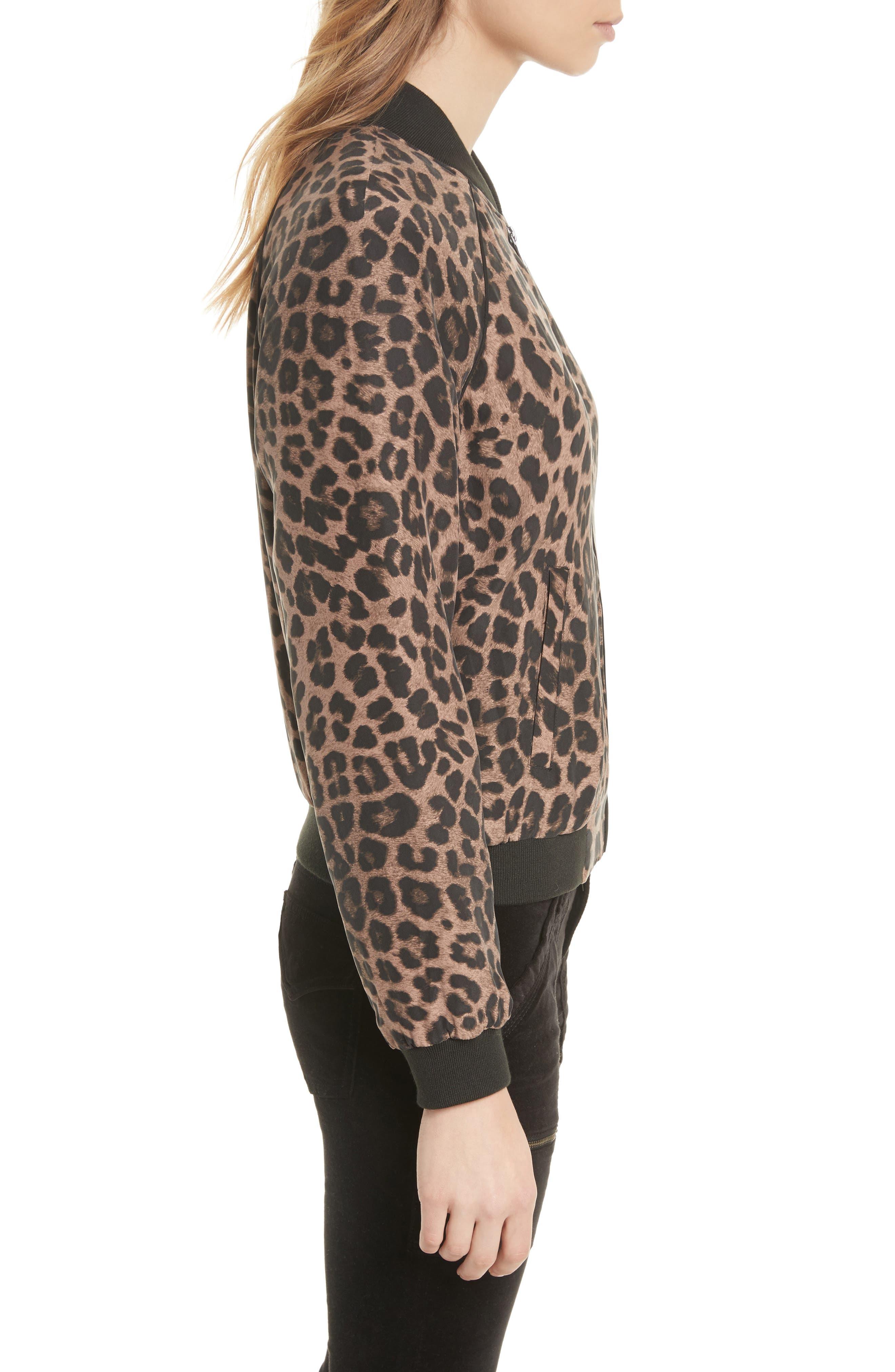 Alternate Image 3  - Joie Julita Leopard Print Silk Jacket