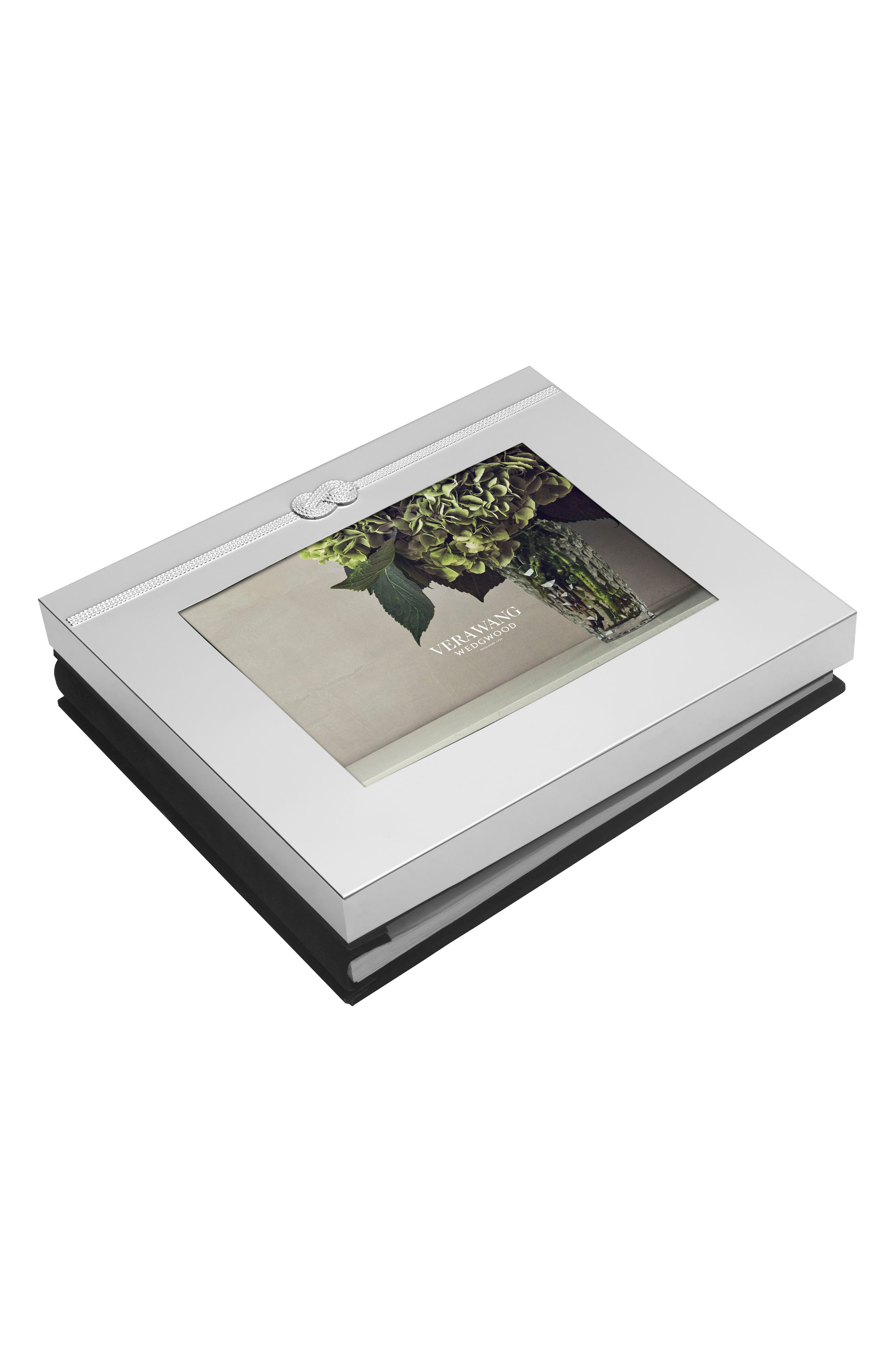 x Wedgwood Infinity Picture Frame Guest Book,                         Main,                         color, Metallic Silver