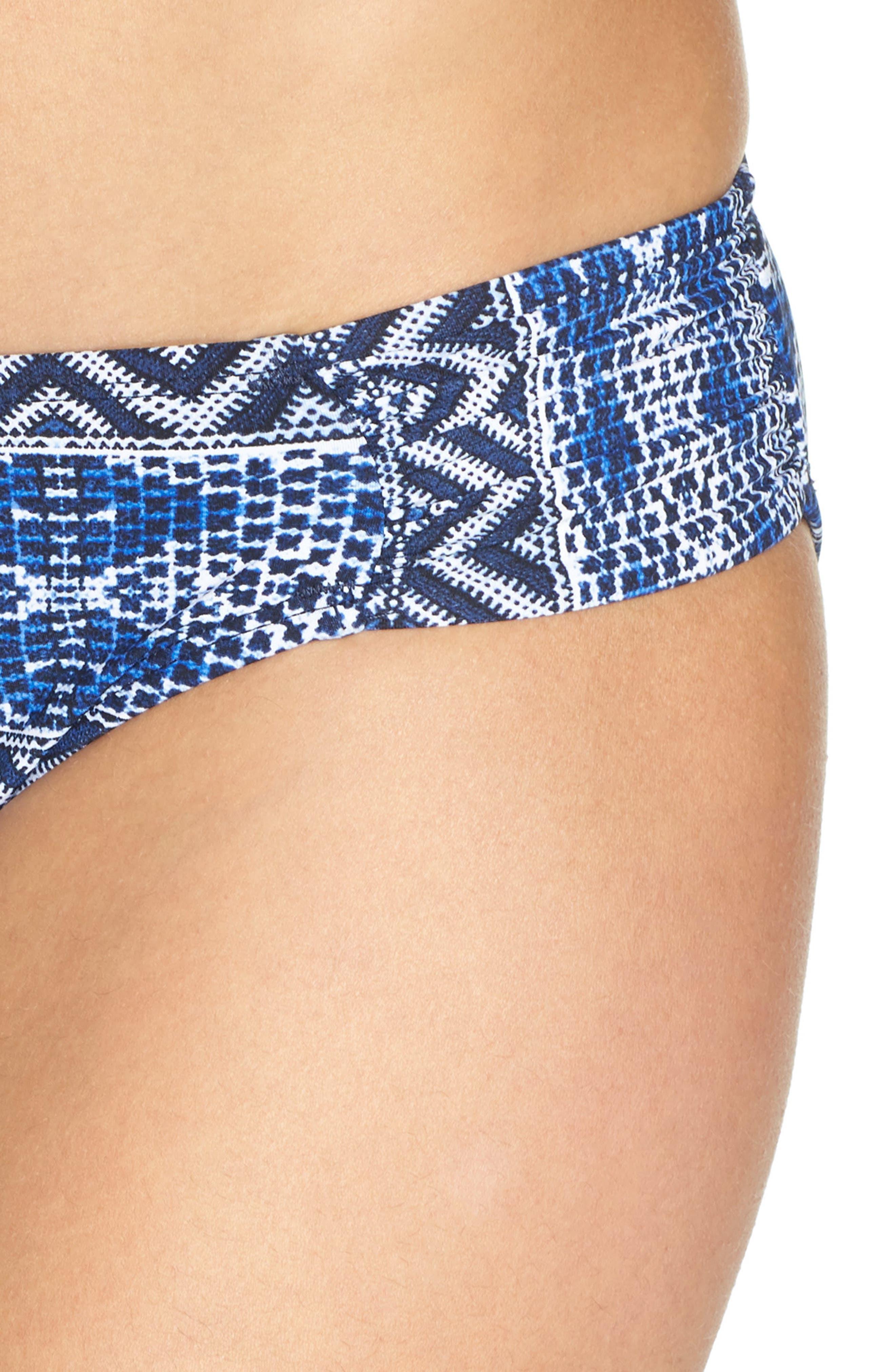 Alternate Image 4  - La Blanca Designer Jeans Hipster Bikini Bottoms