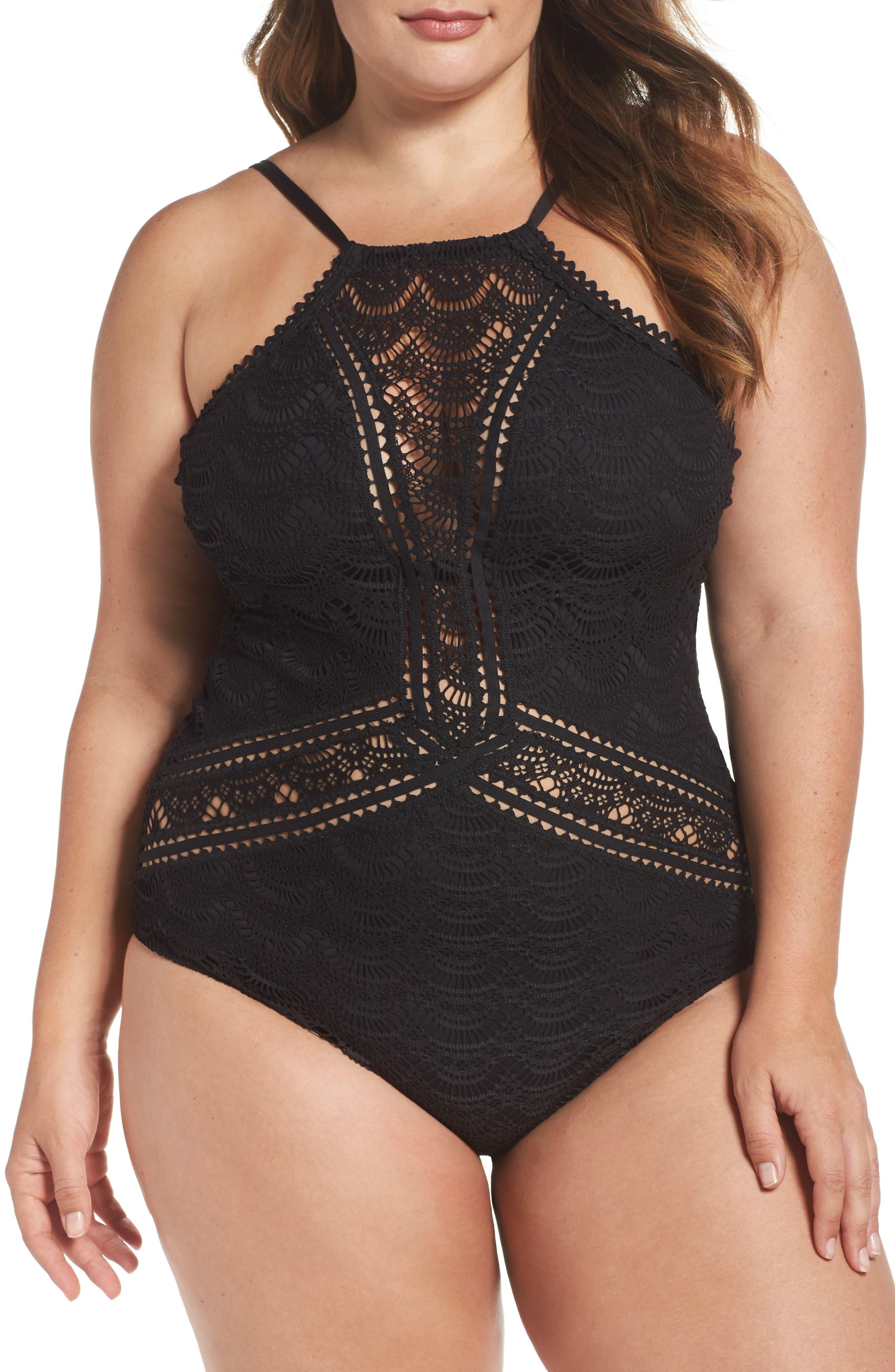 Alternate Image 1 Selected - Becca Etc. One-Piece Swimsuit (Plus Size)