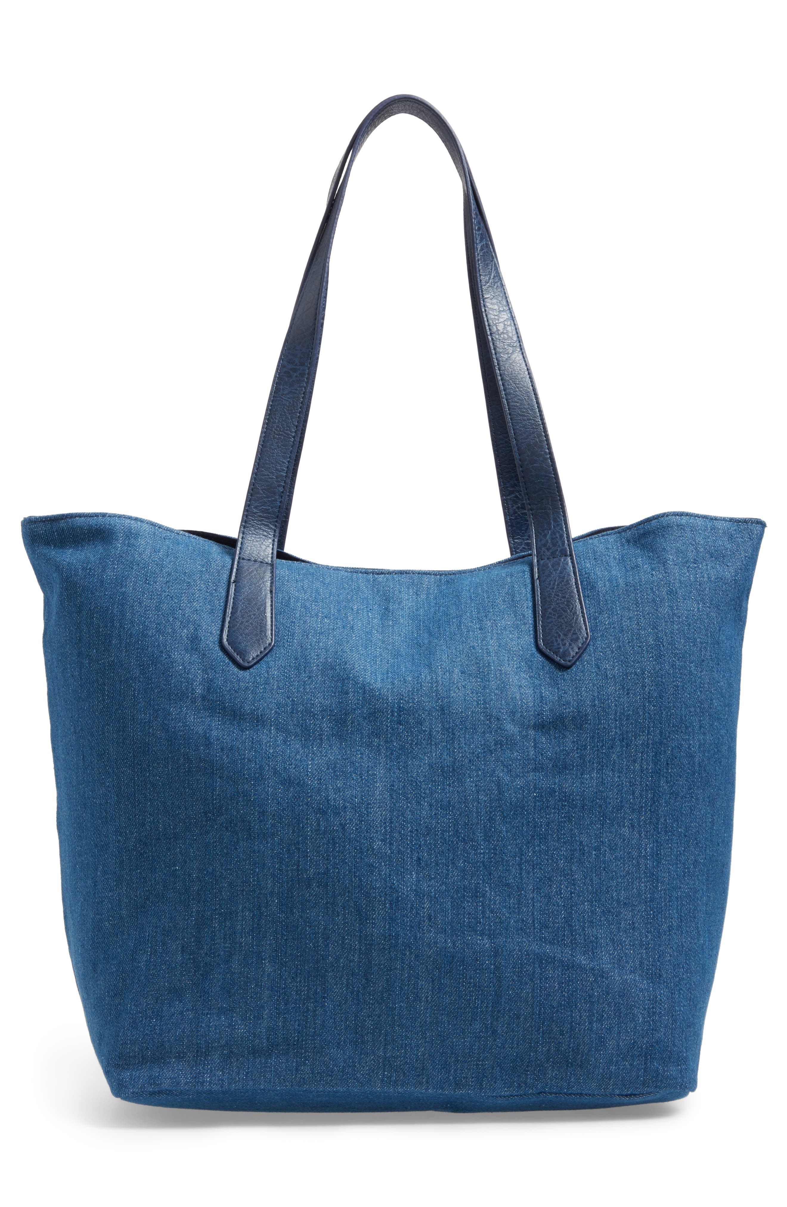 Alternate Image 2  - BP. Faux Leather Trim Canvas Tote