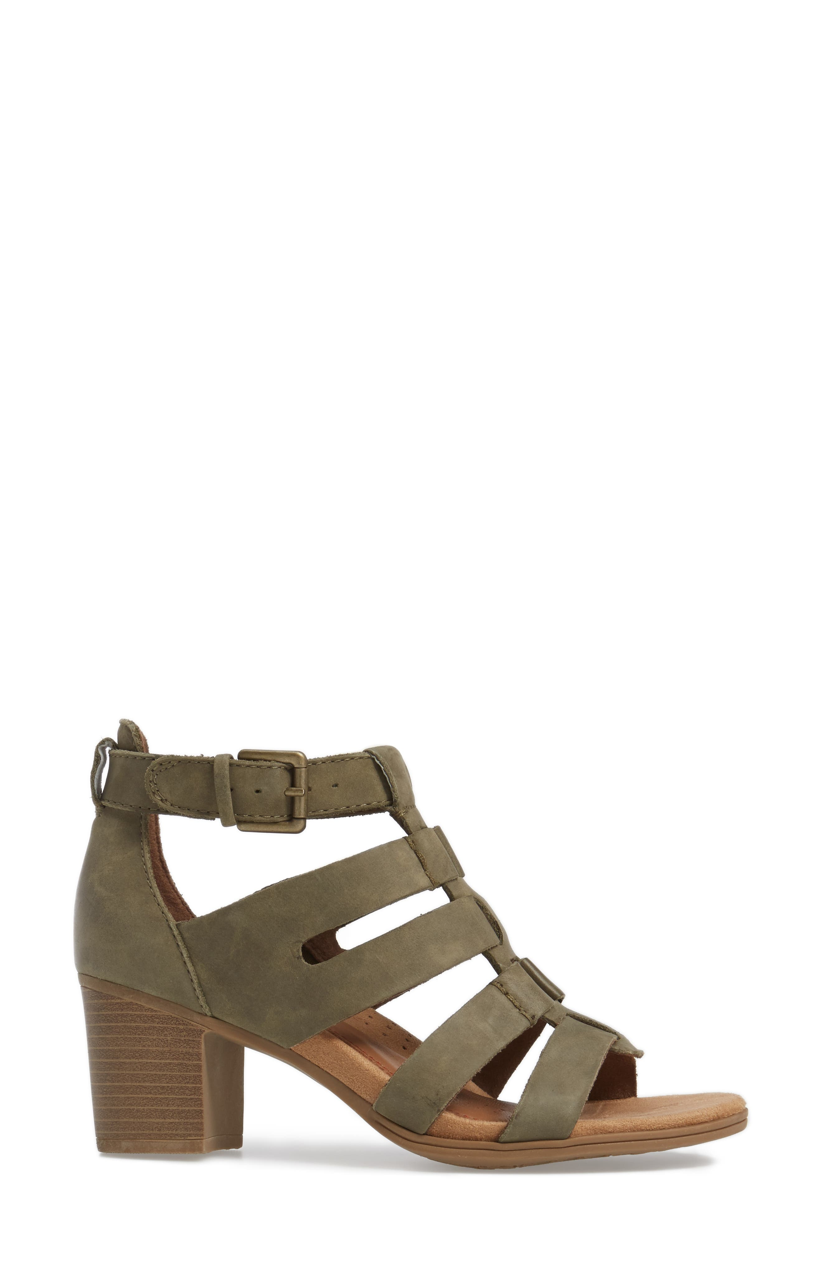 Alternate Image 3  - Rockport Cobb Hill Hattie Block Heel Gladiator Sandal (Women)