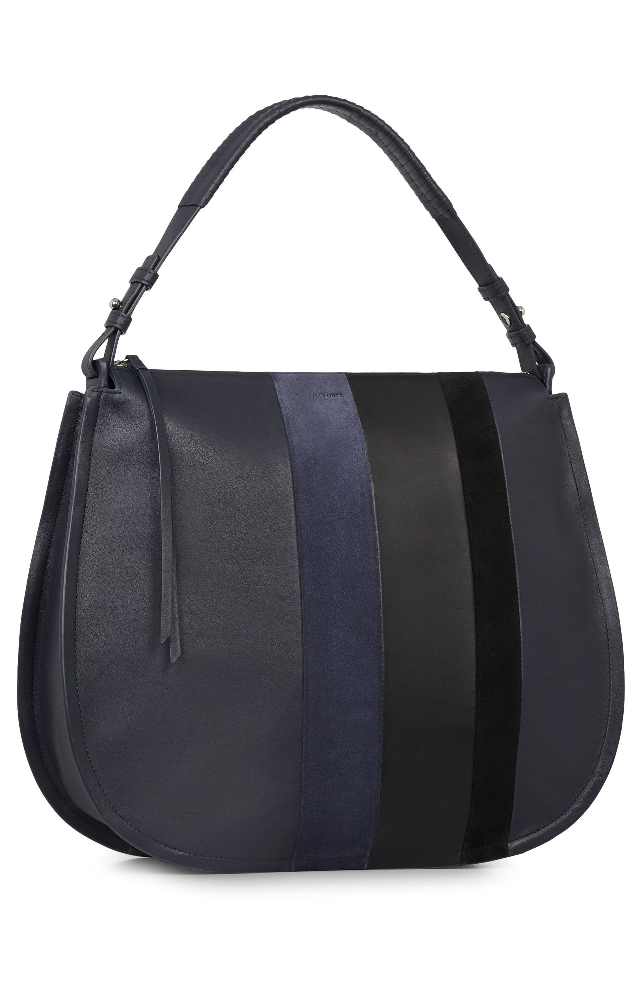 Alternate Image 2  - ALLSAINTS Casey Calfskin Leather & Suede Hobo
