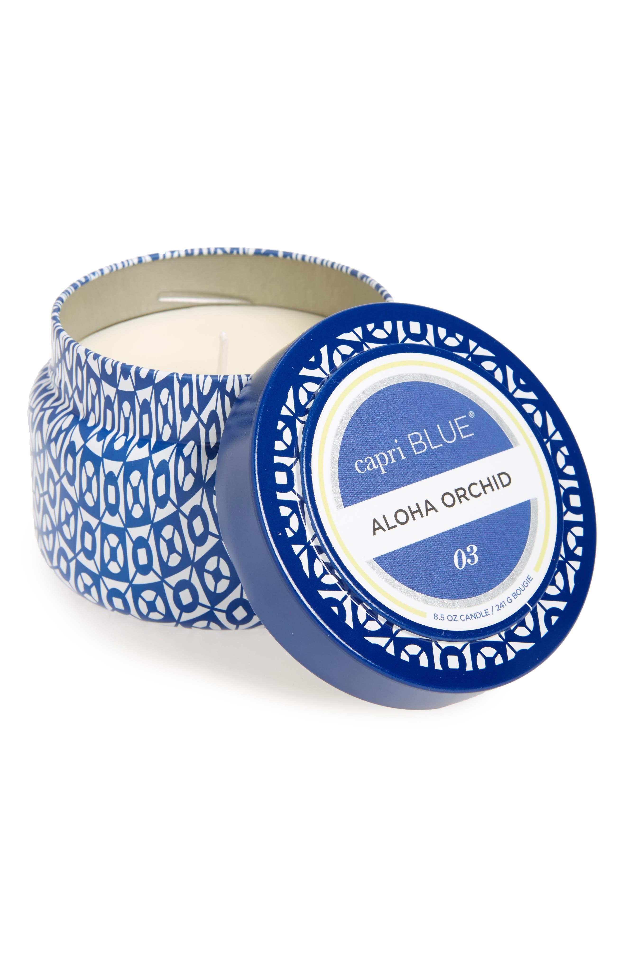 Capri Blue Printed Tin Candle