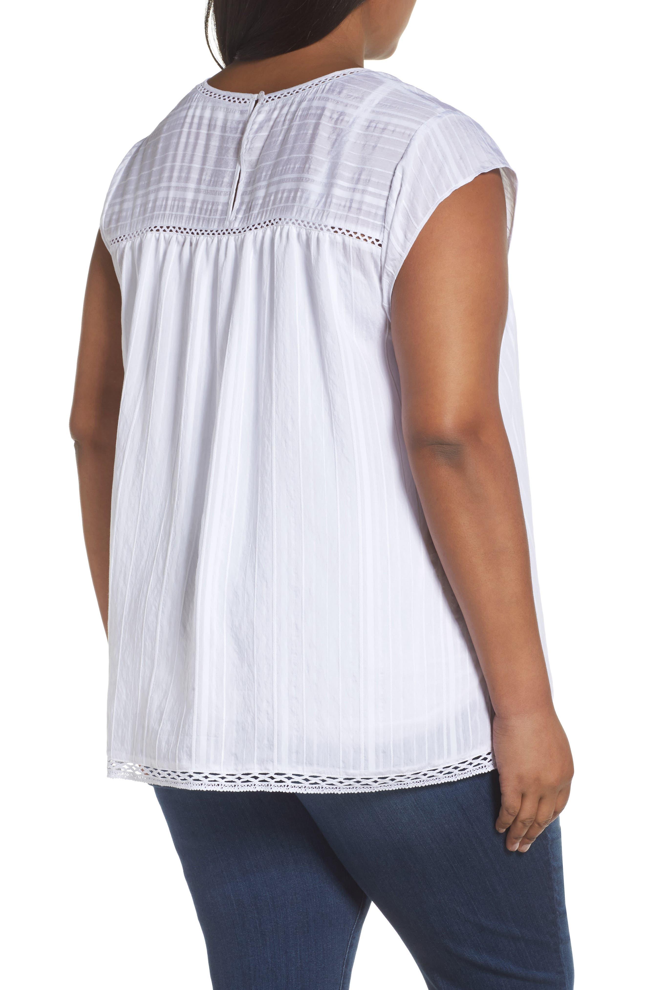 Alternate Image 2  - Sejour Cap Sleeve Top (Plus Size)