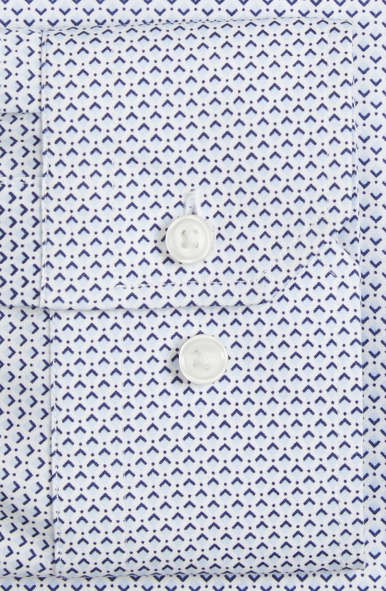 Alternate Image 4  - Calibrate Trim Fit Stretch Geometric Dress Shirt