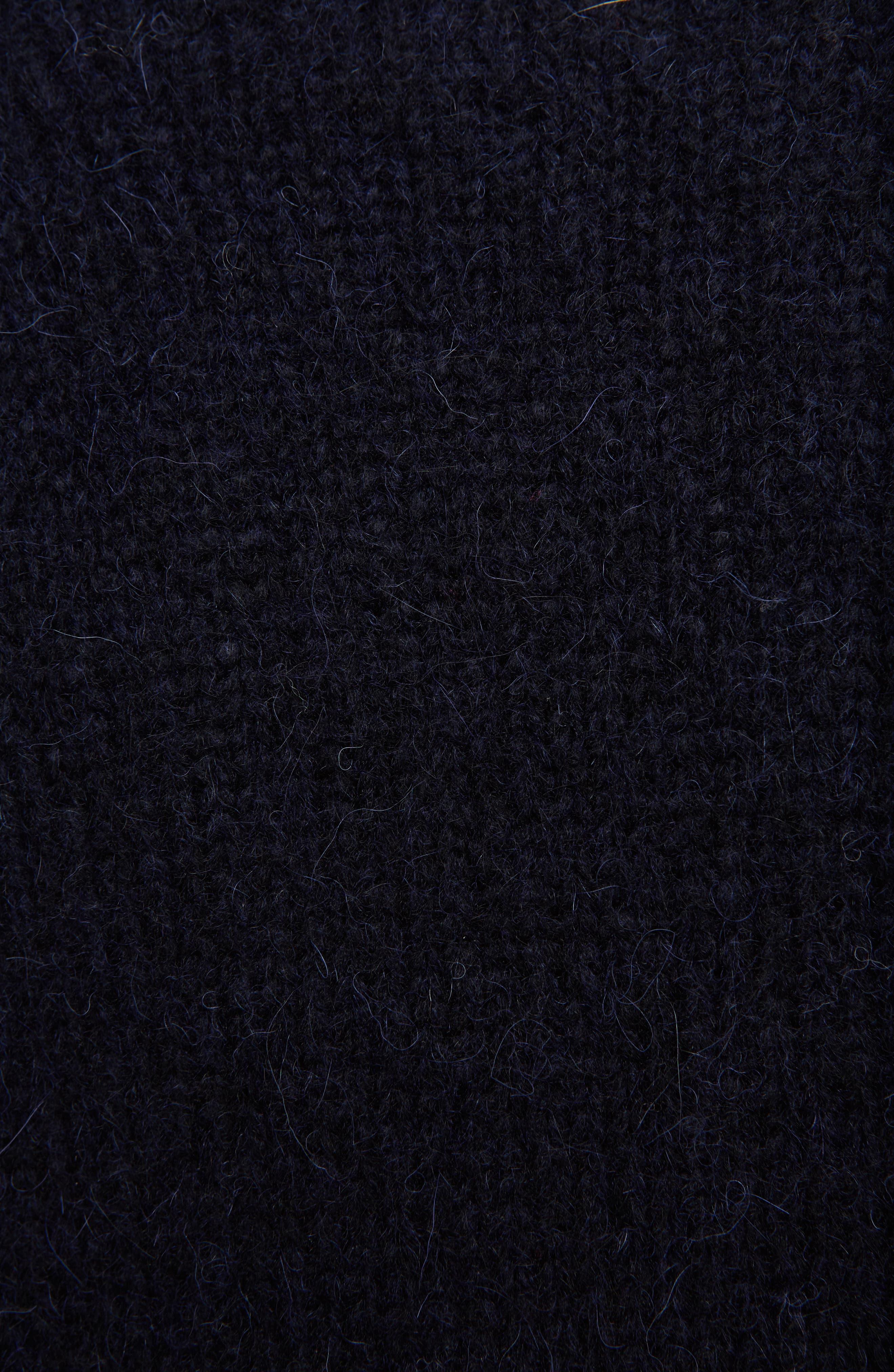 Karel Oversize Merino Sweater,                             Alternate thumbnail 5, color,                             Black