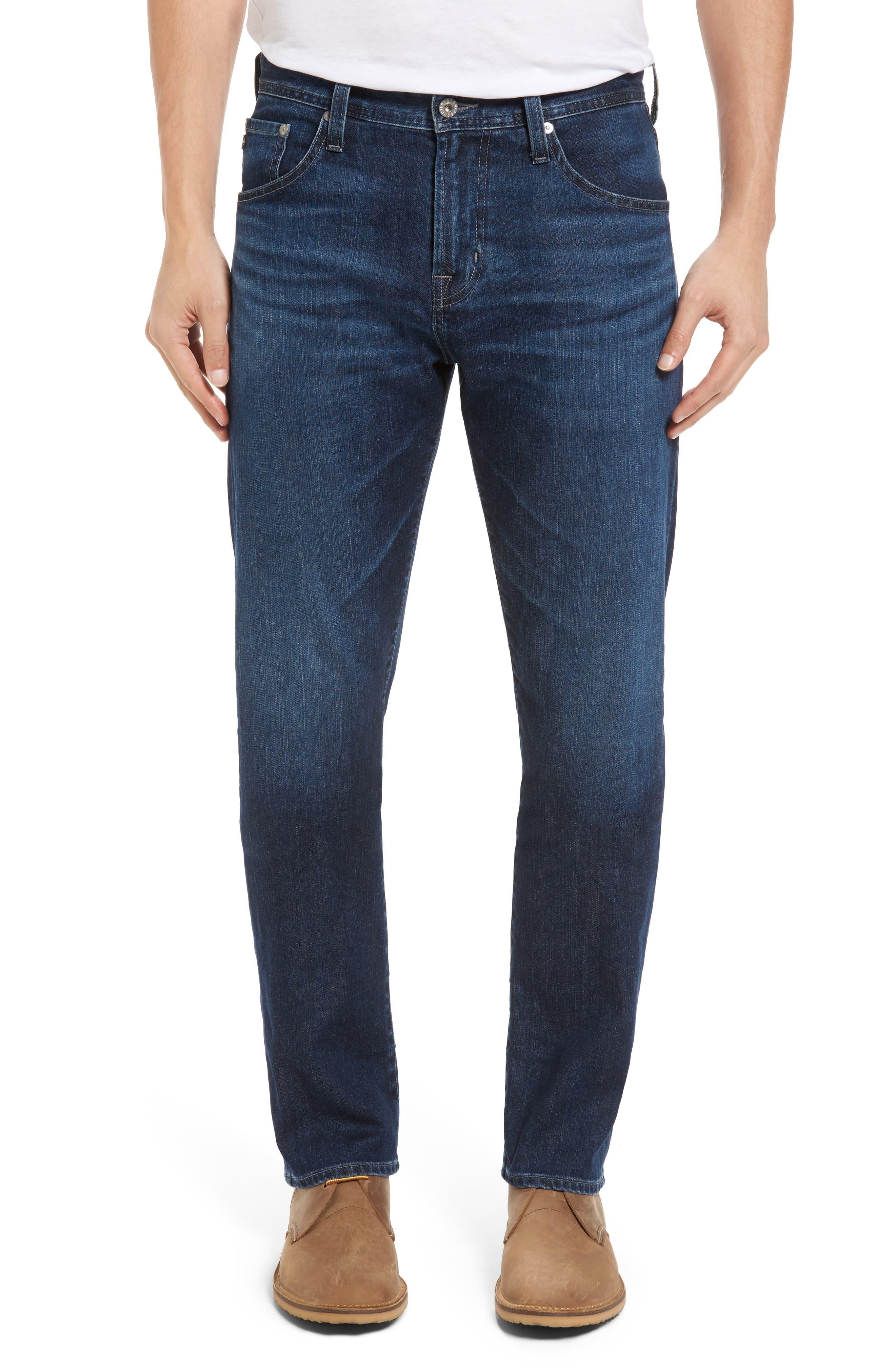 Alternate Image 1 Selected - AG Ives Straight Leg Jeans (Brackett)