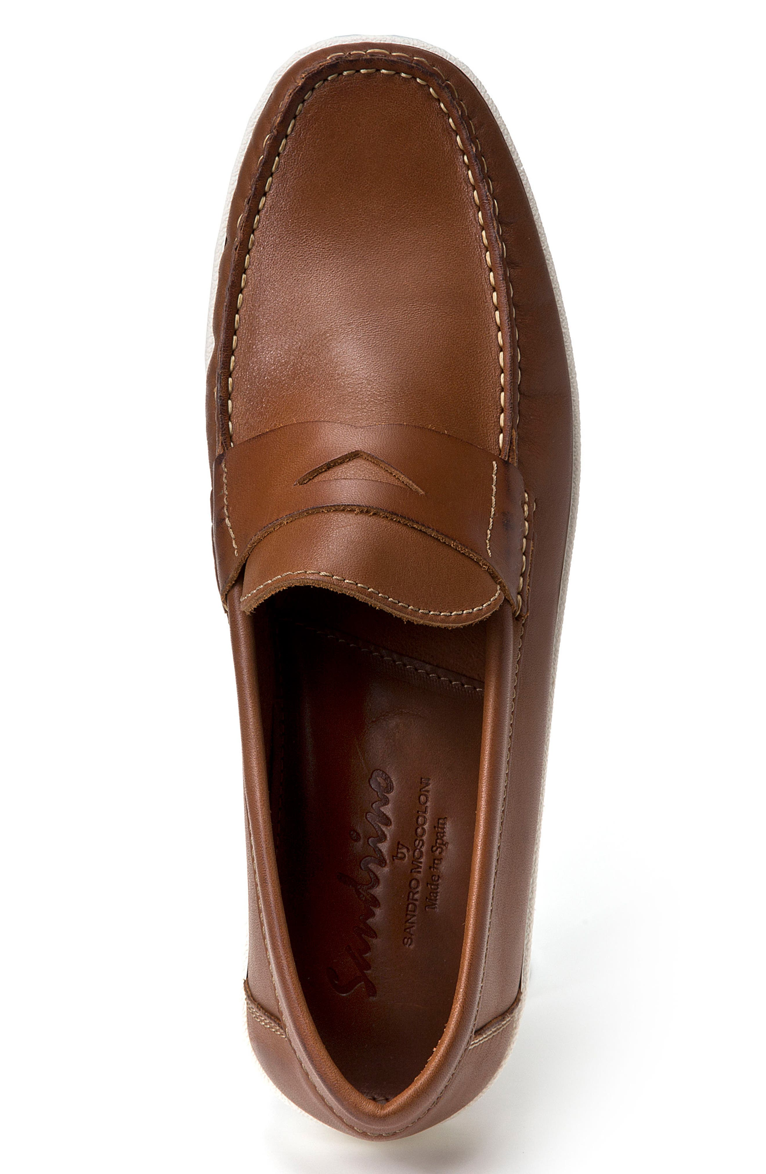 Simon Penny Loafer,                             Alternate thumbnail 3, color,                             Tan Leather