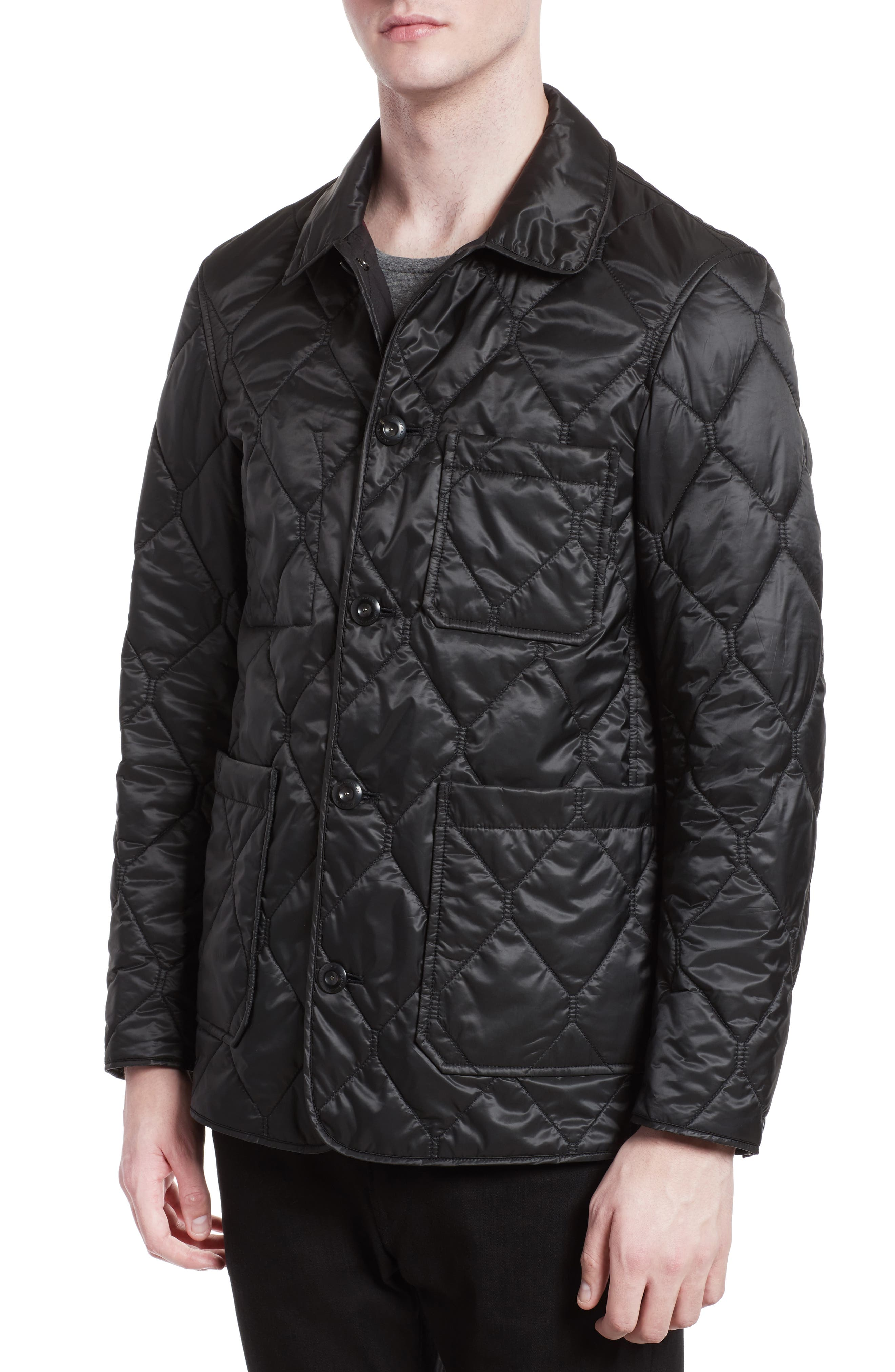 Alternate Image 4  - Burberry Rushton Trim Fit Quilted Jacket