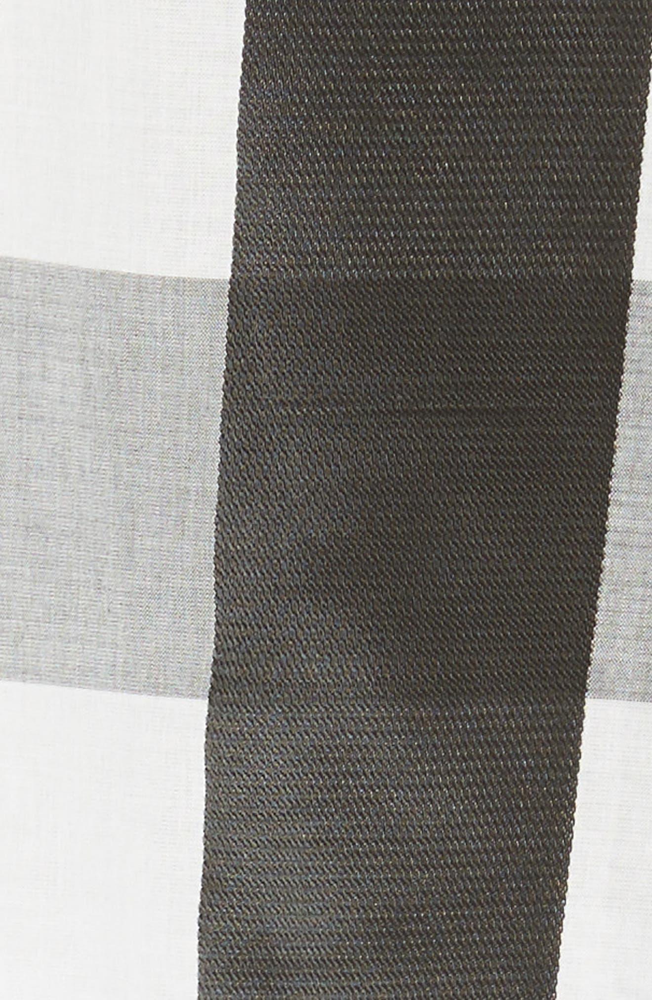 Posta Ruffle Tank,                             Alternate thumbnail 6, color,                             Black/ White