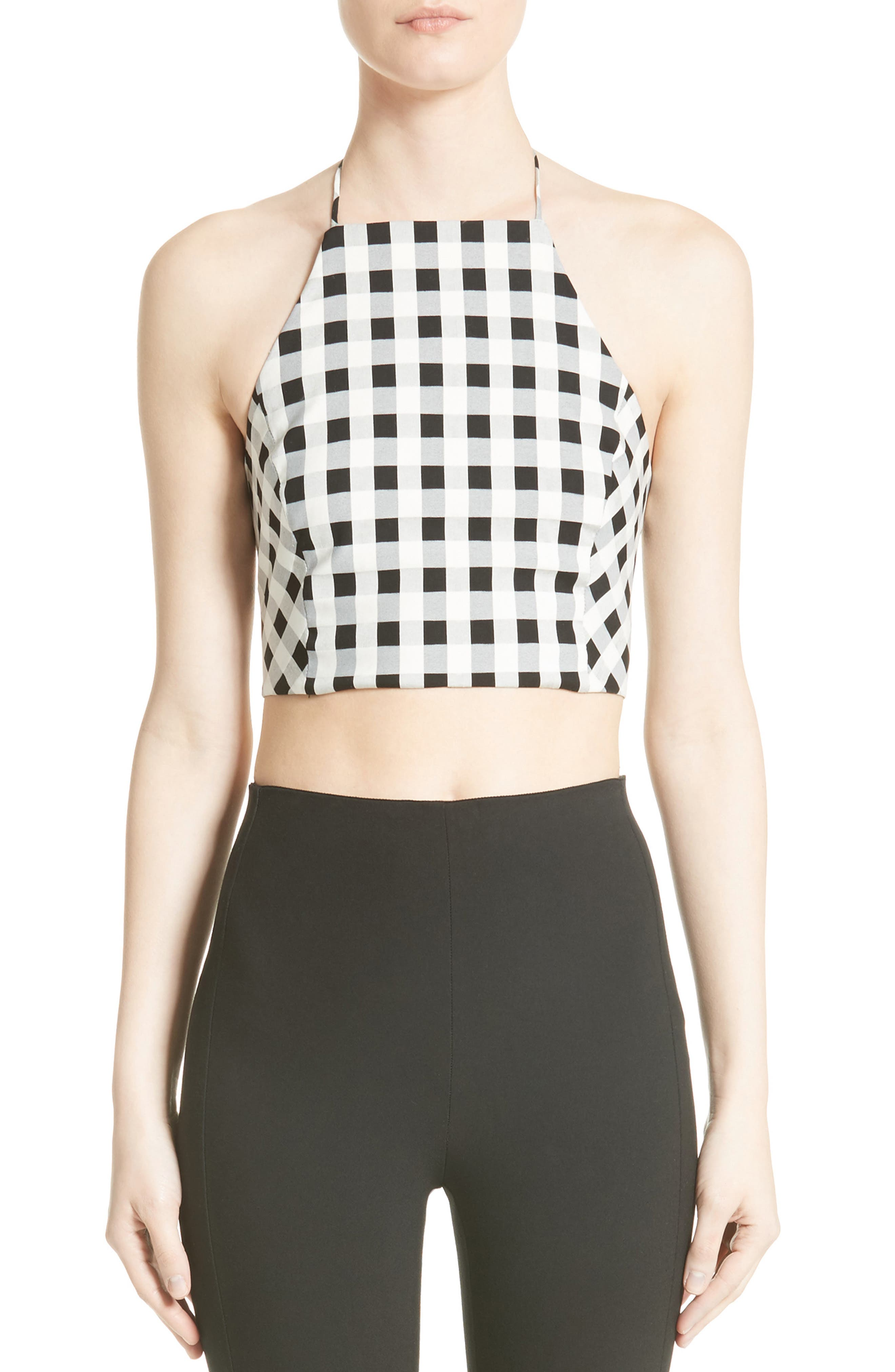 Alternate Image 1 Selected - rag & bone Nevada Crop Halter Top