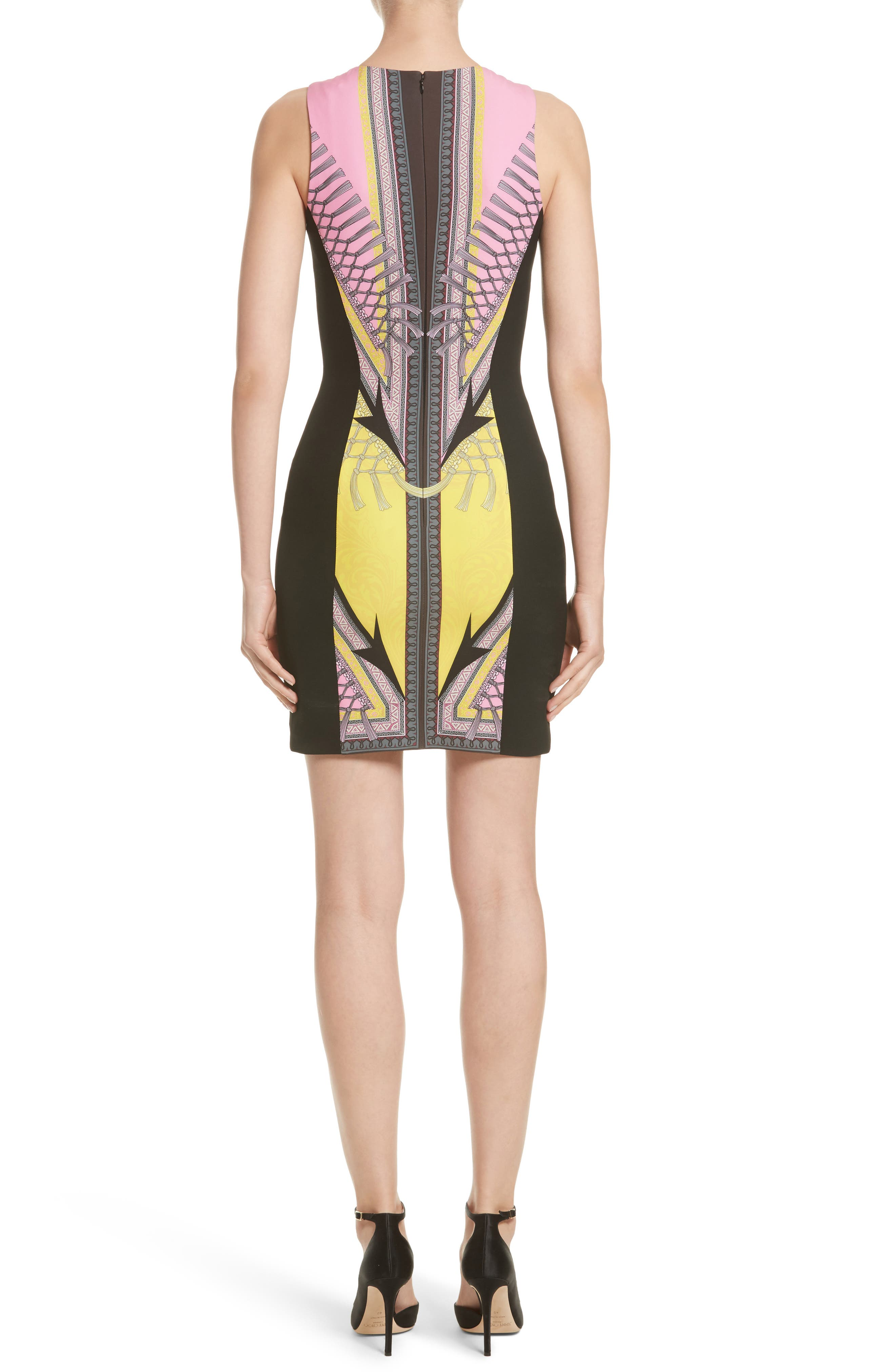 Alternate Image 2  - Versace Collection Scarf Print Stretch Cady Dress