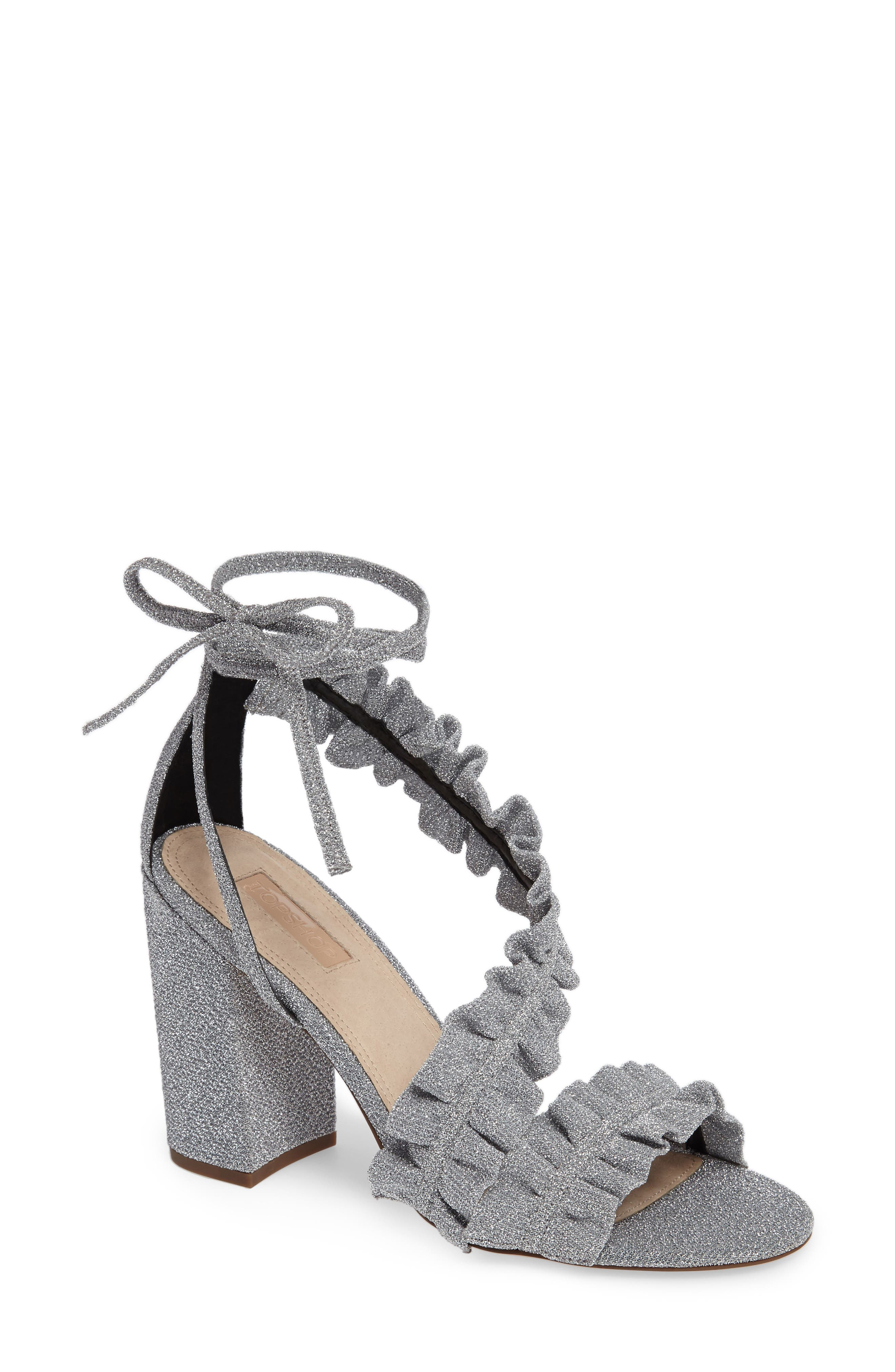 TOPSHOP Real Asymmetrical Ruffled Sandal