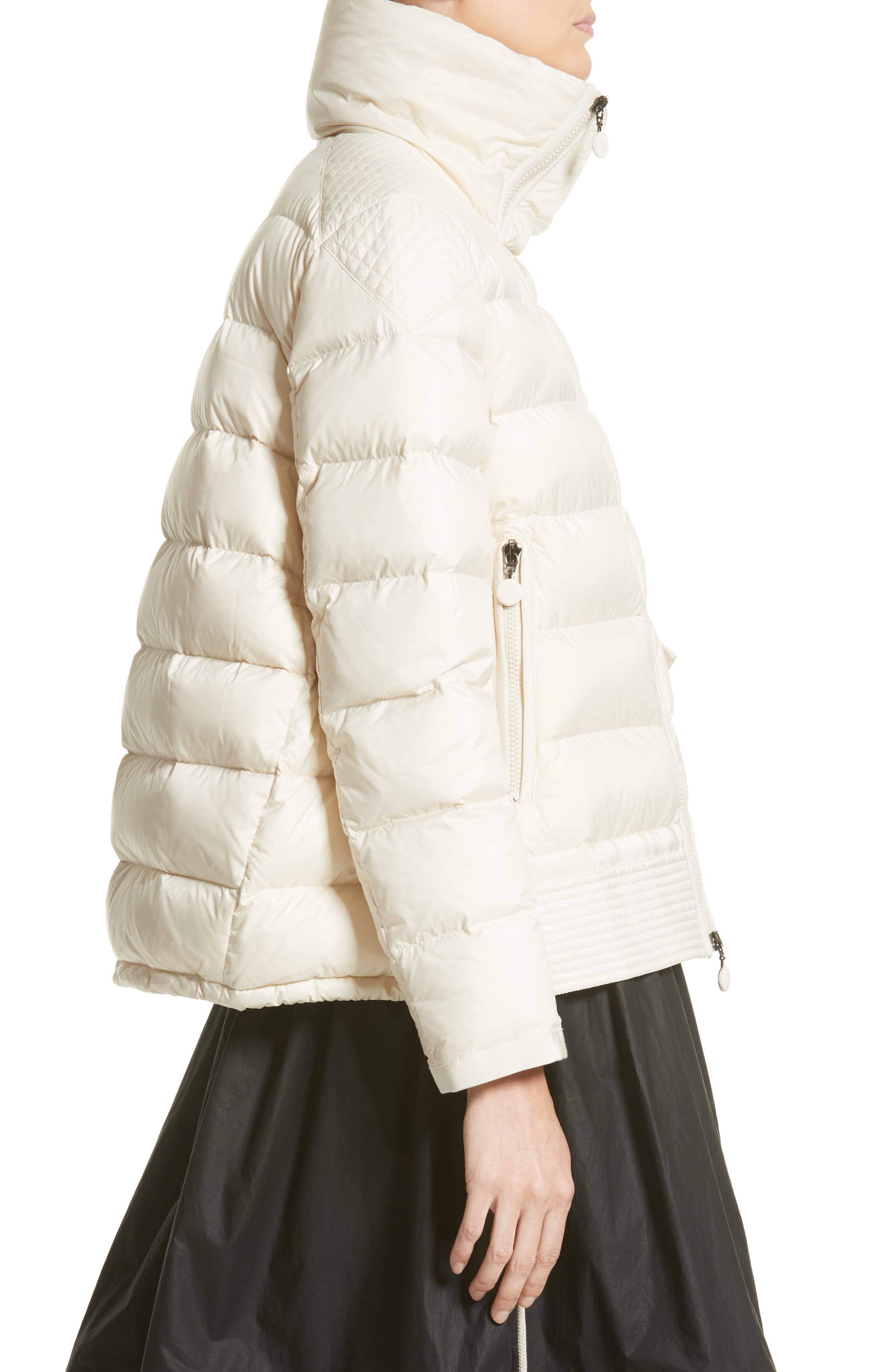 Margaret Down Puffer Jacket,                             Alternate thumbnail 3, color,                             Cream
