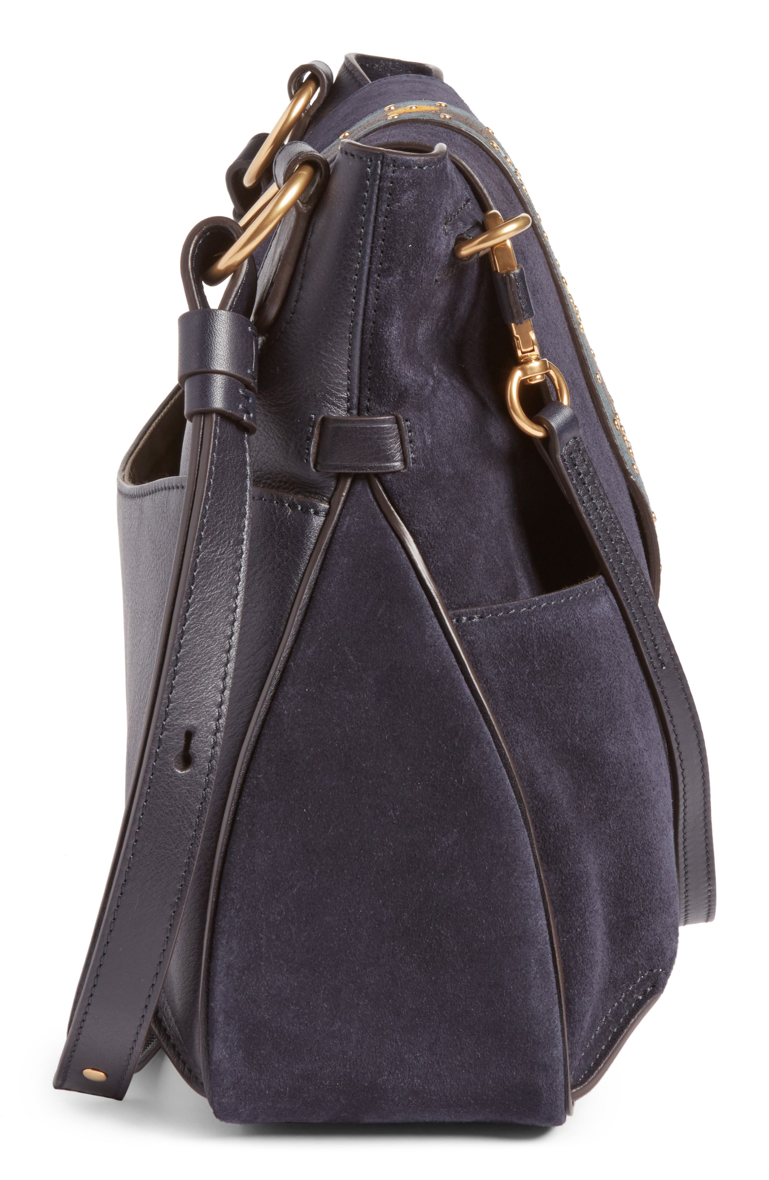 Alternate Image 4  - Chloé Medium Lexa Suede Shoulder Bag