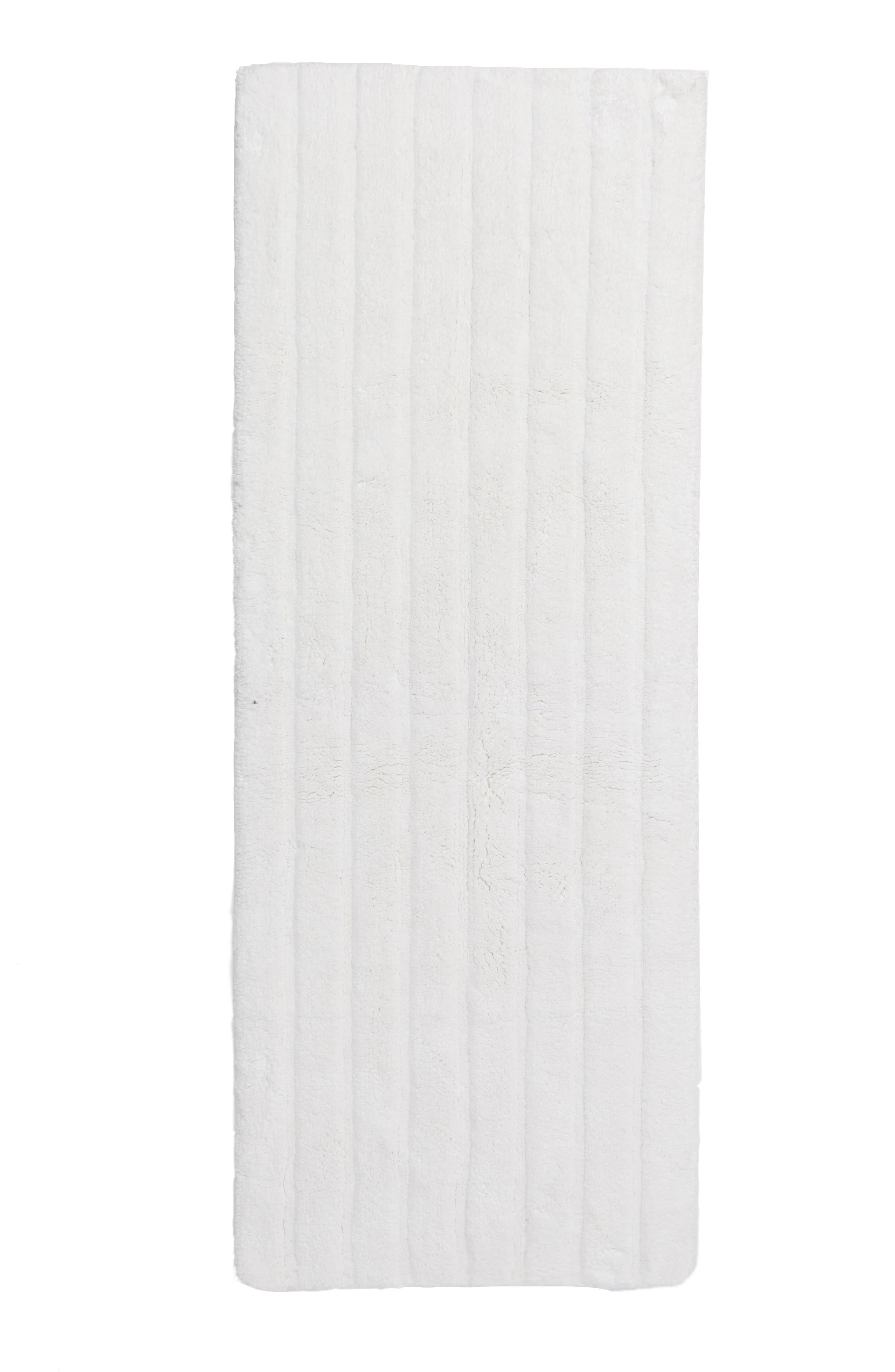 Ribbed Velour Bath Runner,                         Main,                         color, White