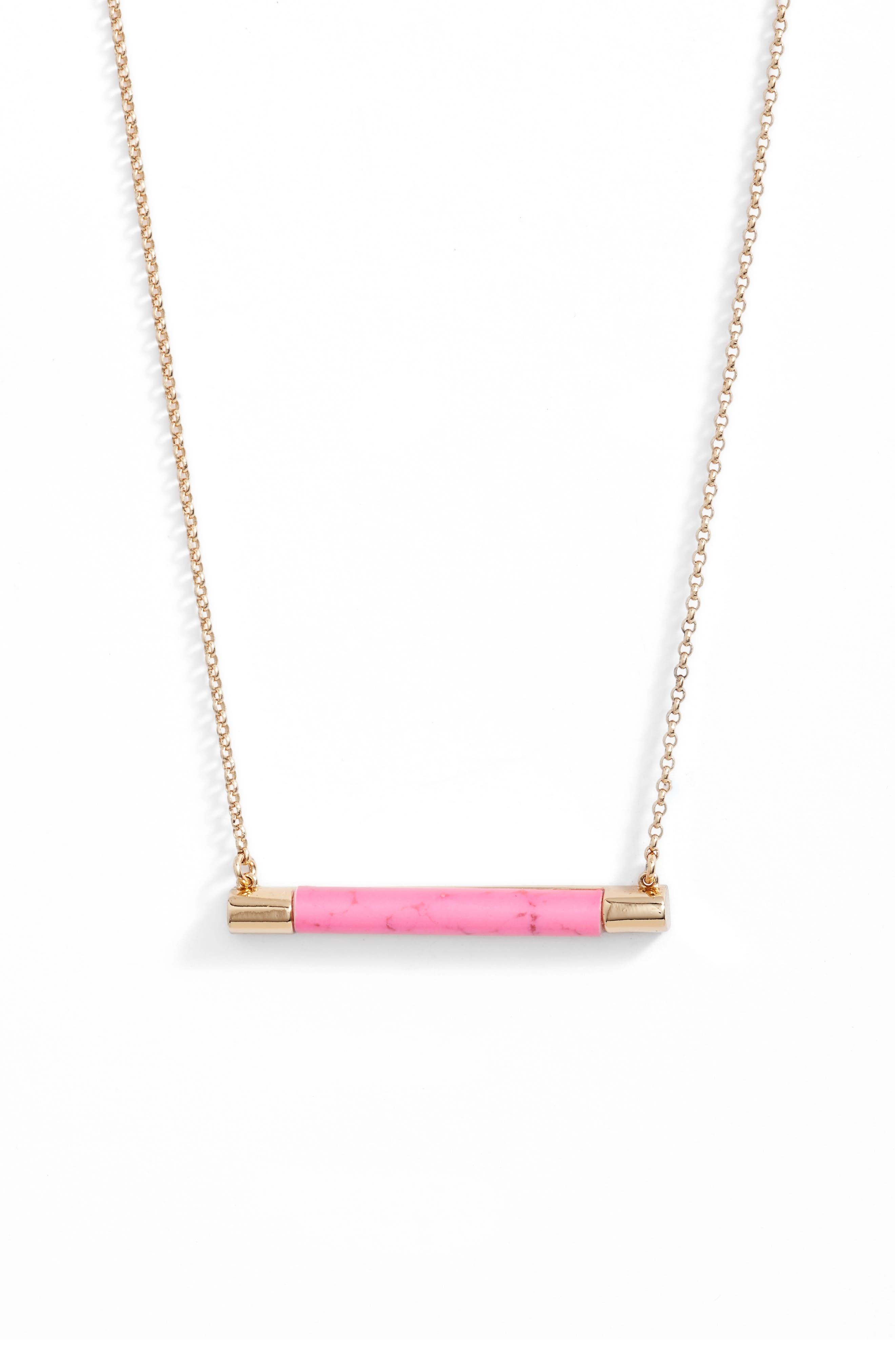 KATE SPADE NEW YORK building blocks bar pendant necklace