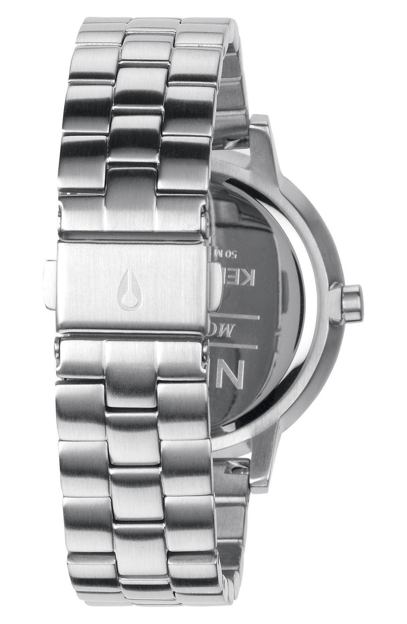 'The Kensington' Bracelet Watch, 37mm,                             Alternate thumbnail 2, color,                             Silver/ Black/ Silver