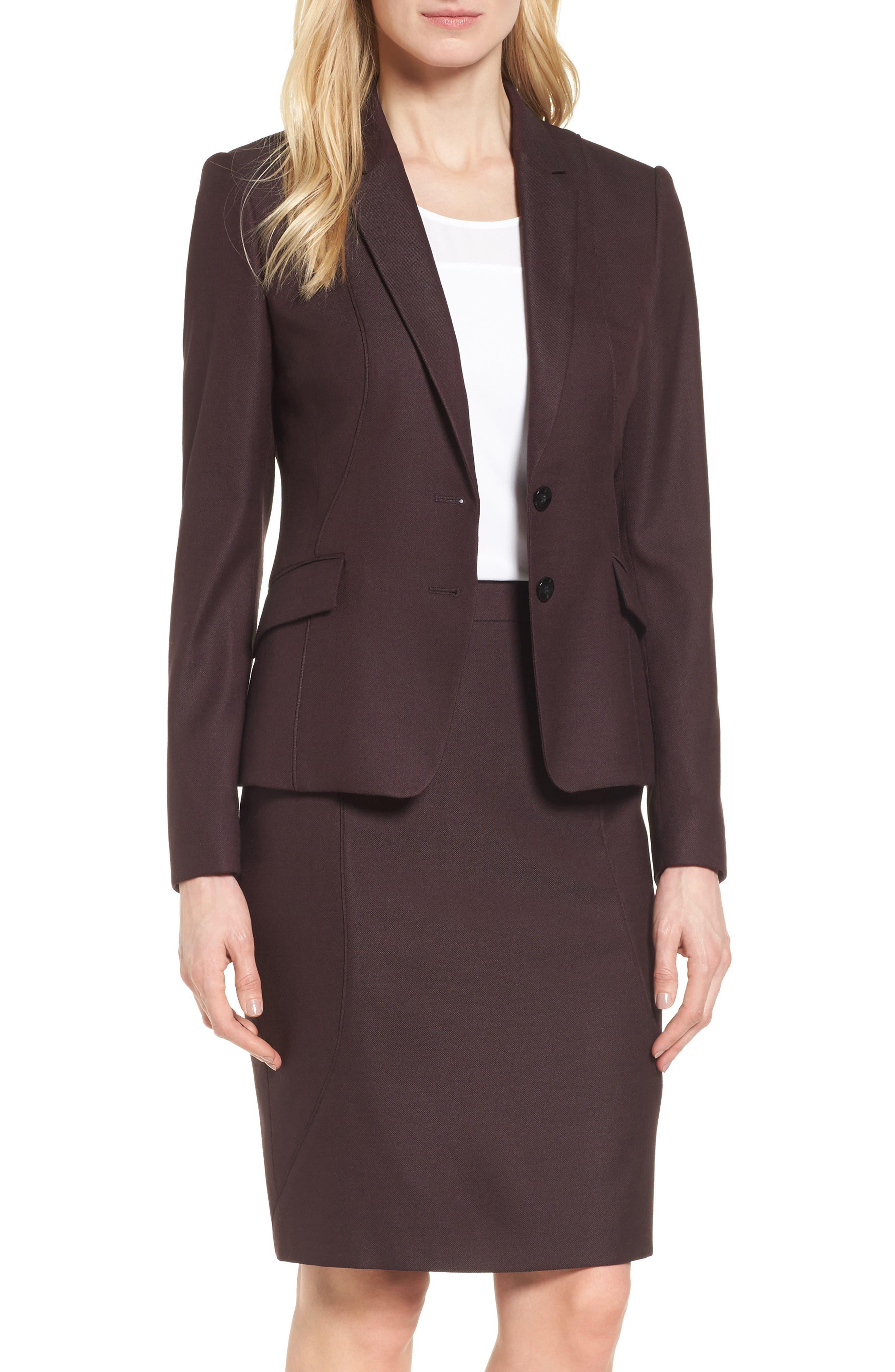 Main Image - BOSS Jenesa Suit Jacket