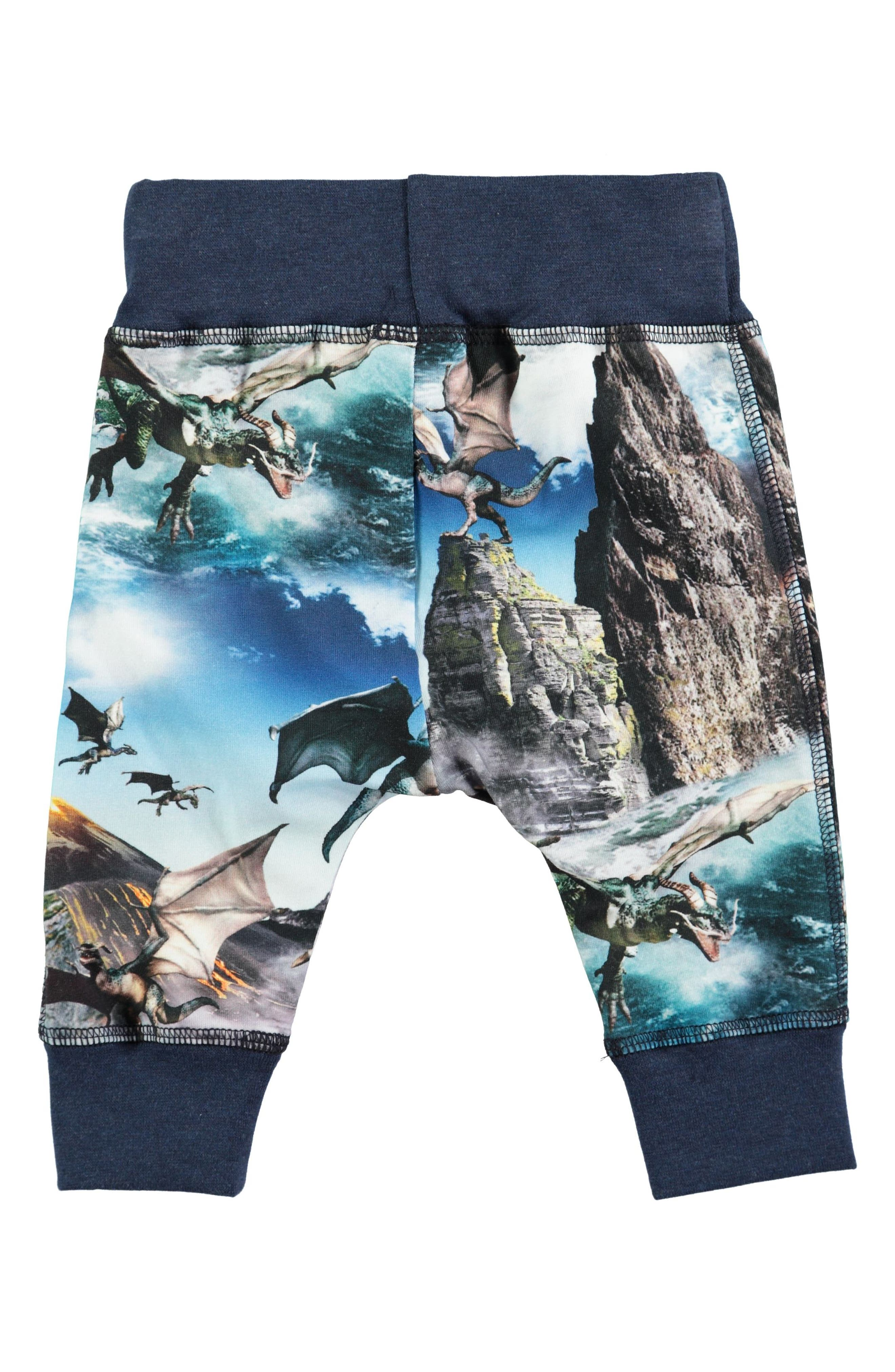 Sammy Print Jogger Pants,                             Alternate thumbnail 2, color,                             Dragon Island
