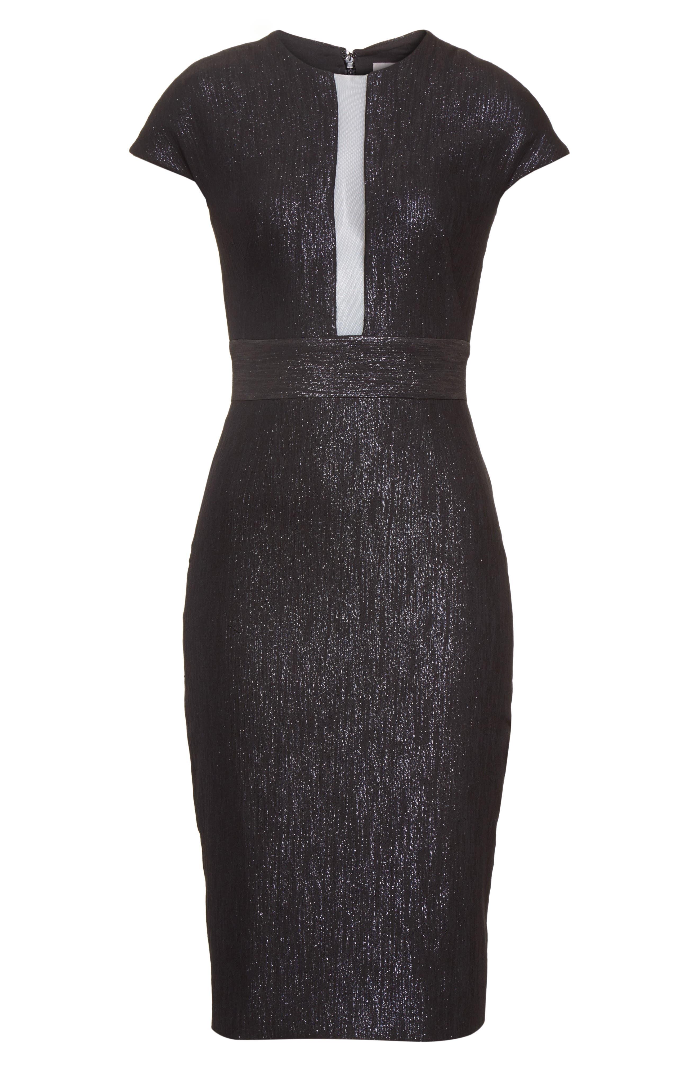 Alternate Image 6  - Lela Rose Shimmer Jacquard Sheath Dress