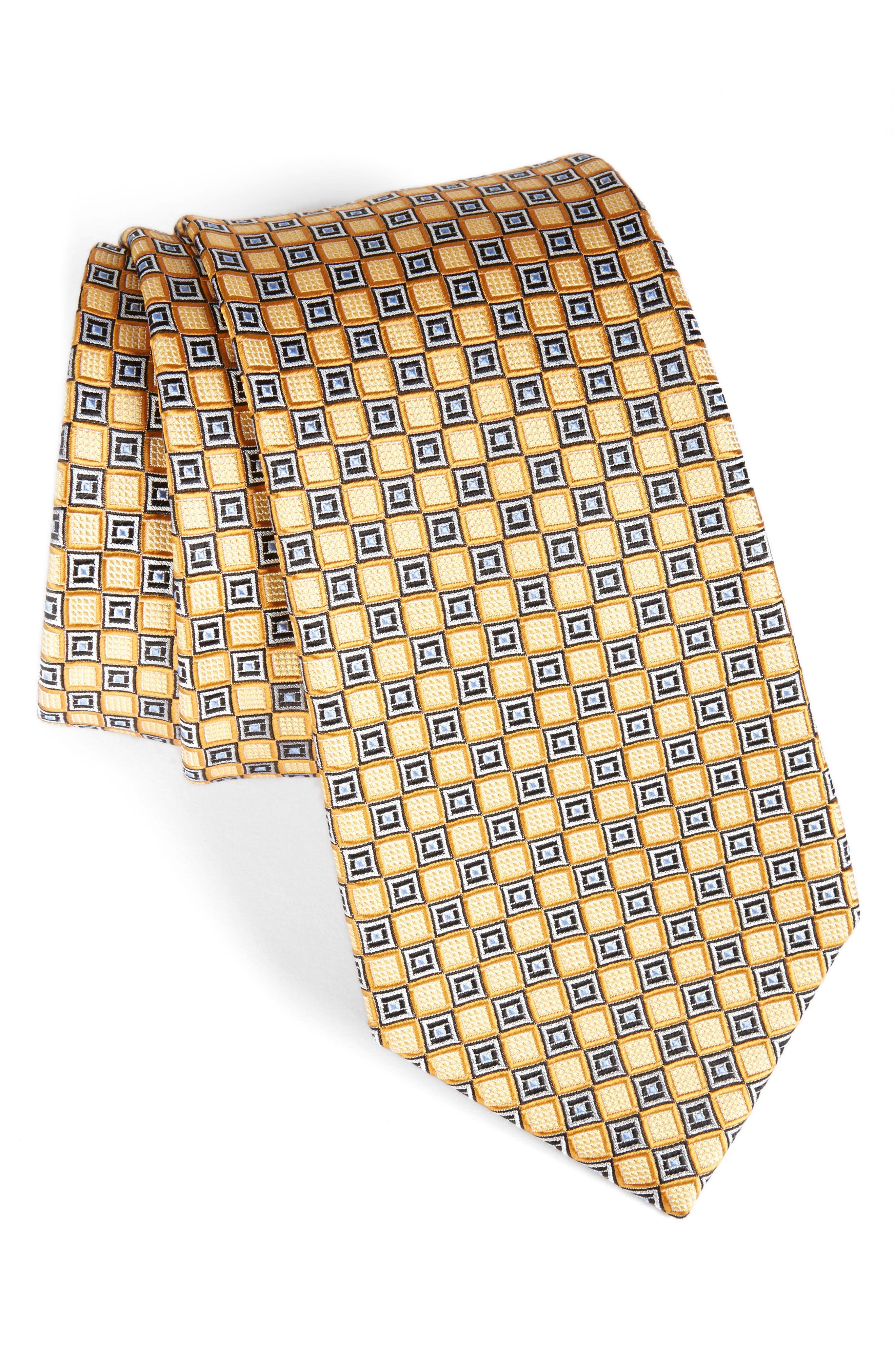NORDSTROM MENS SHOP Neat Medallion Silk Tie