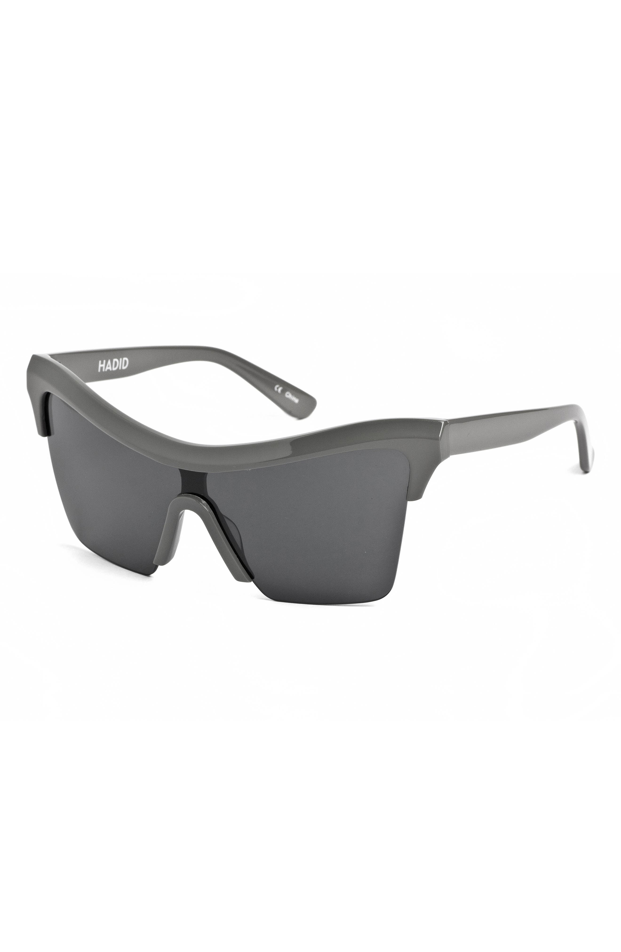 Passport Control 68mm Sunglasses,                             Alternate thumbnail 4, color,                             Grey