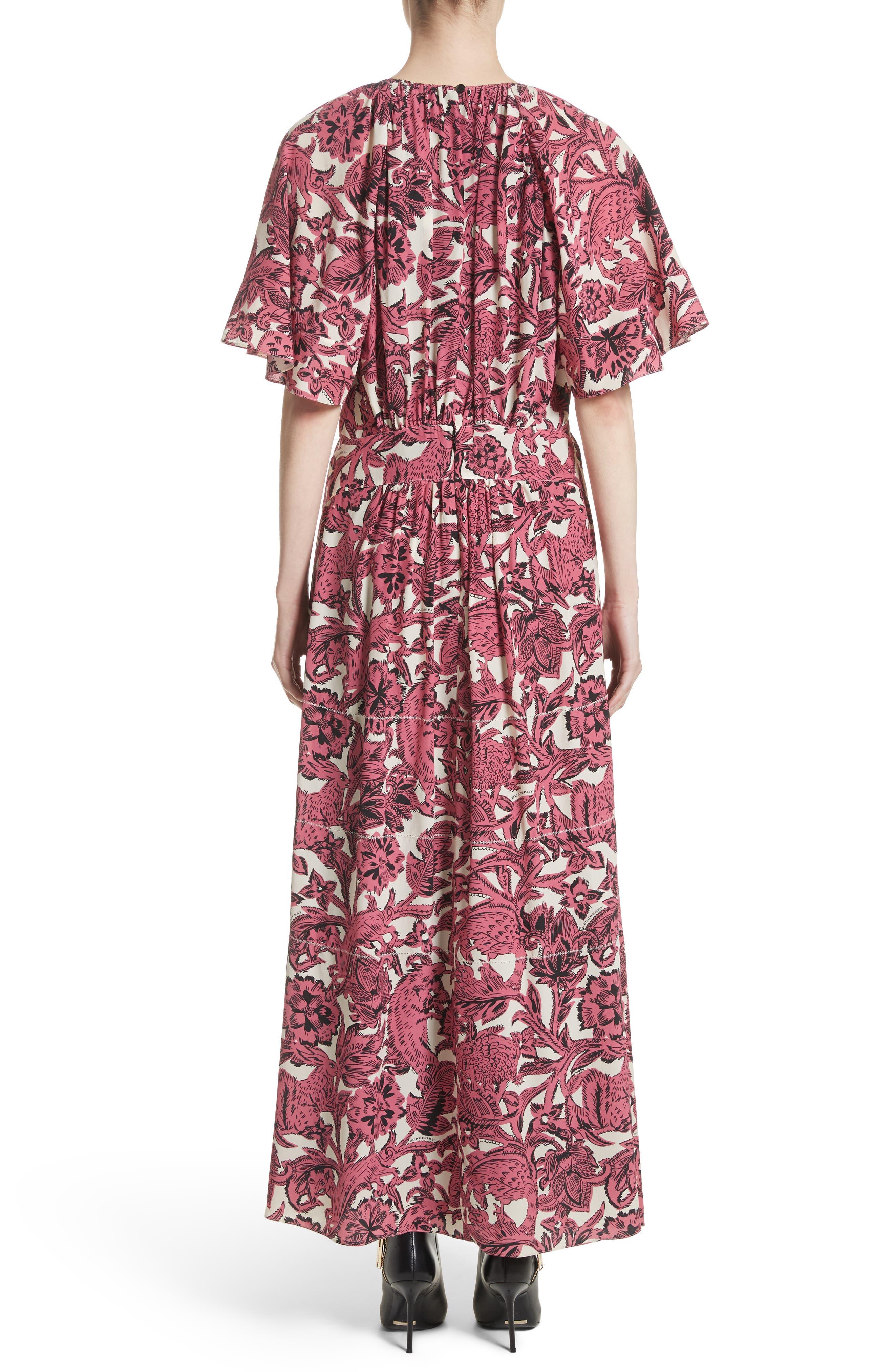 Hallie Silk Dress,                             Alternate thumbnail 2, color,                             Pink Azalea